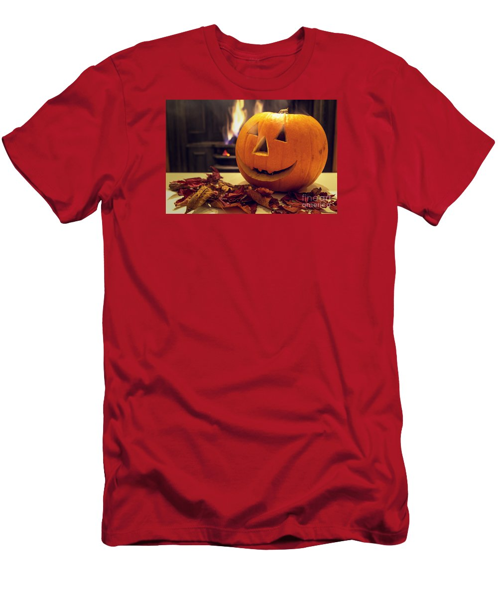 Halloween Men's T-Shirt (Athletic Fit) featuring the photograph Pumpkin by Sebastien Coell
