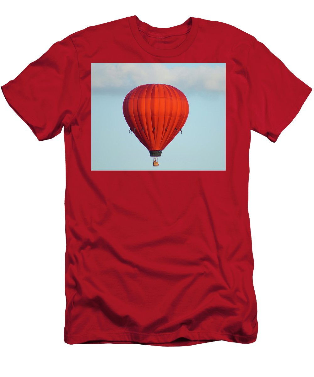 Balloons Men's T-Shirt (Athletic Fit) featuring the photograph RED by Linda Cupps