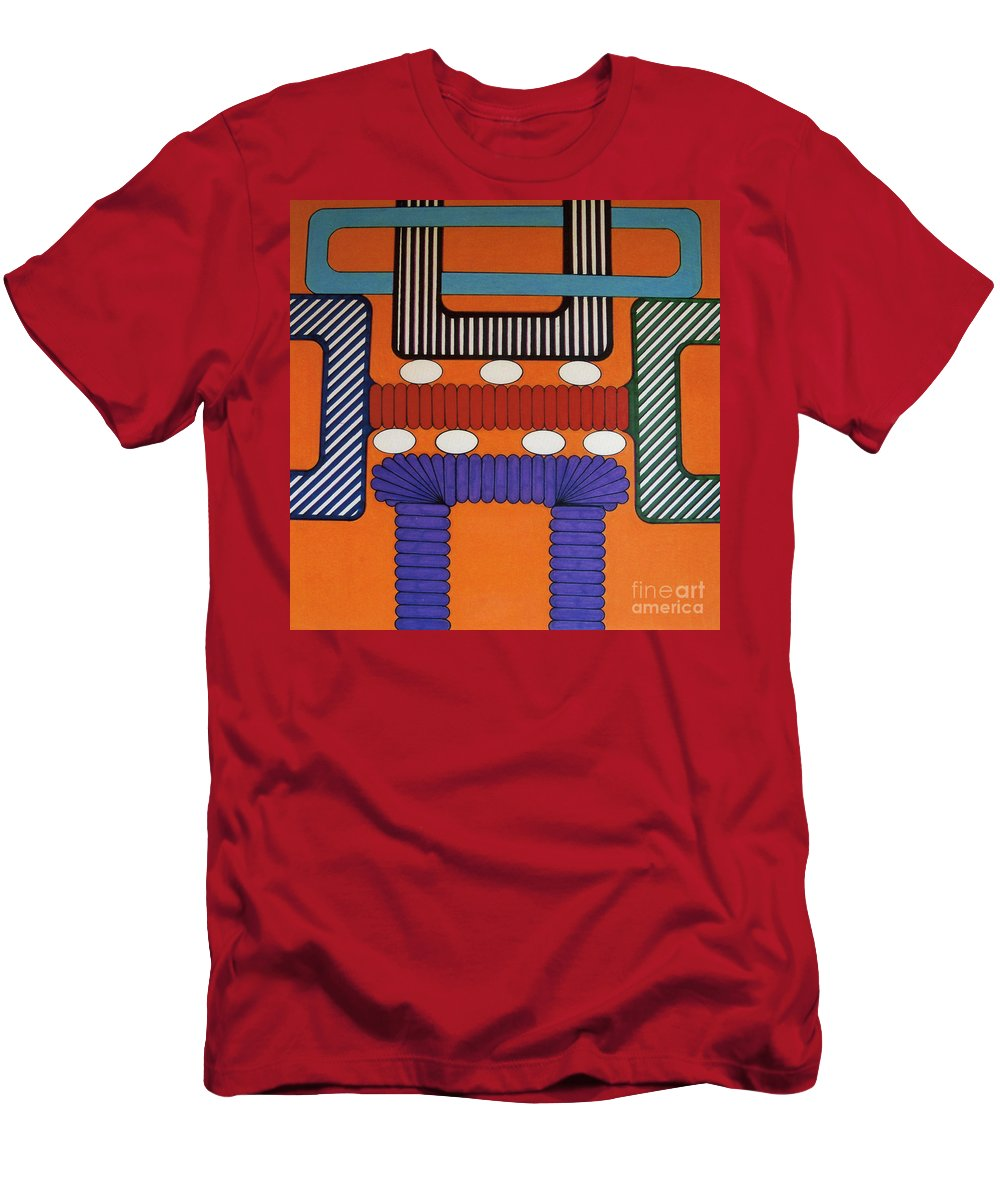 Abstract Men's T-Shirt (Athletic Fit) featuring the drawing Rfb0634 by Robert F Battles