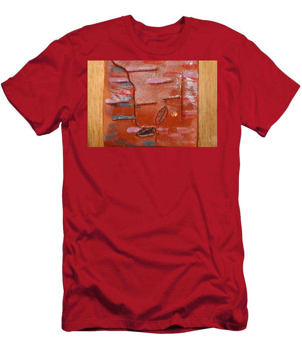 Jesus Men's T-Shirt (Athletic Fit) featuring the ceramic art Sure - Tile by Gloria Ssali