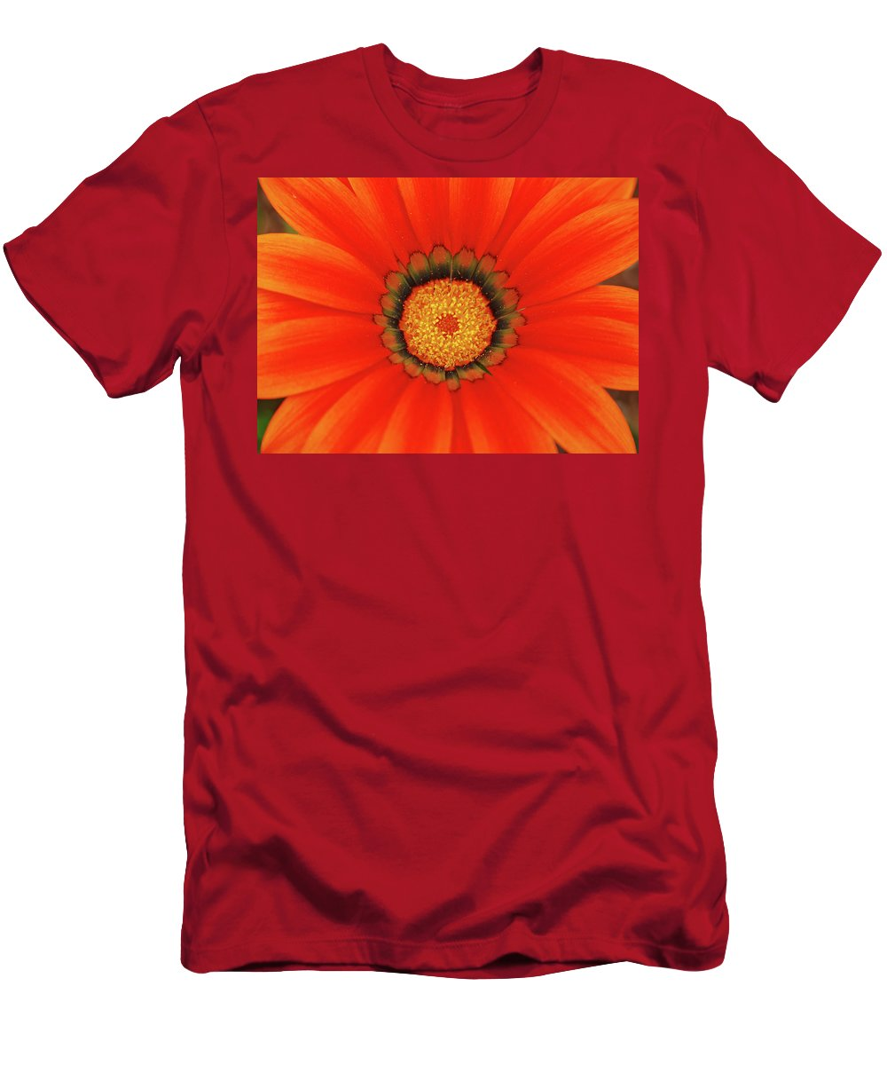 Daisy Men's T-Shirt (Athletic Fit) featuring the photograph The Beauty Of Orange by Lori Tambakis