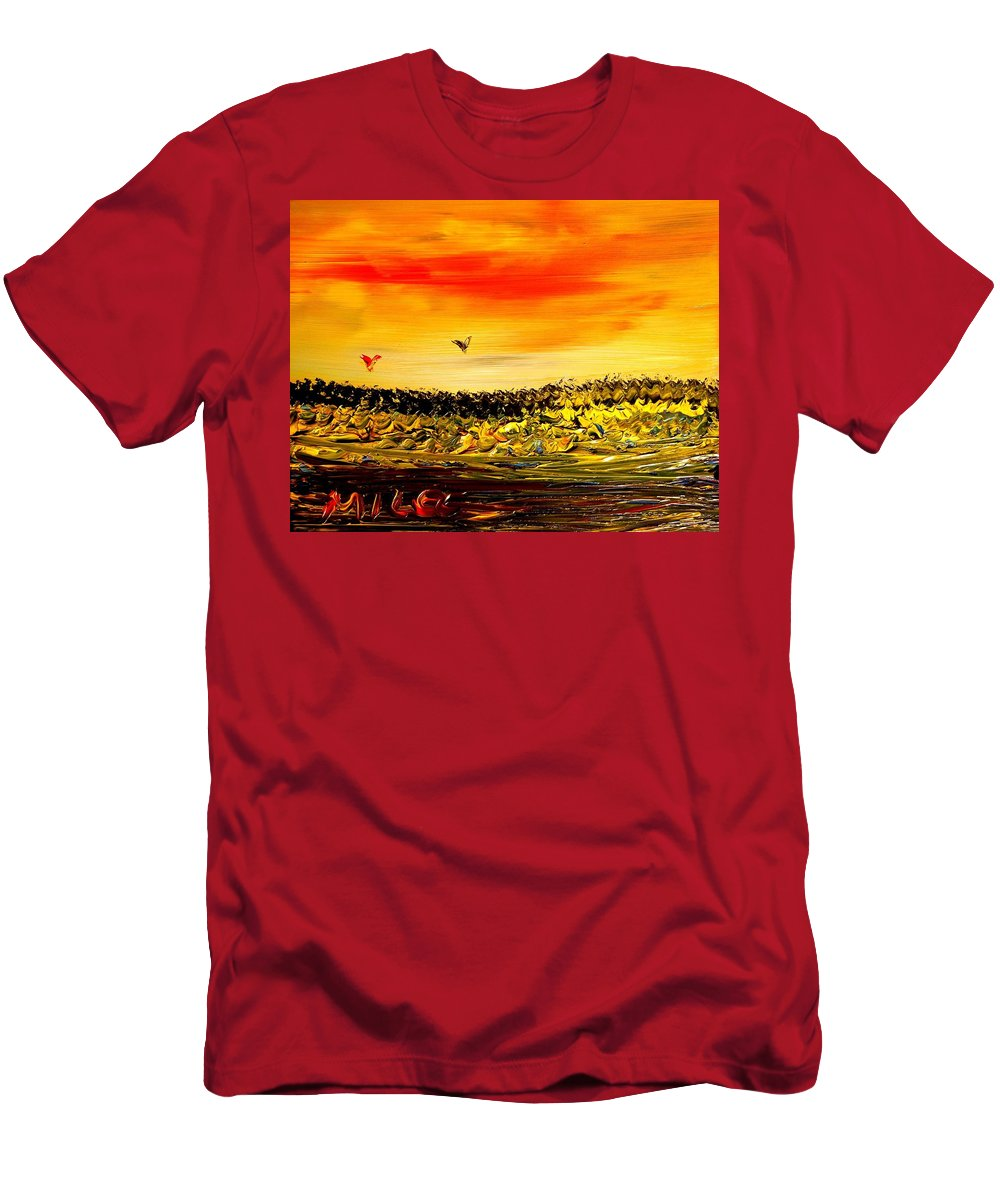 Men's T-Shirt (Athletic Fit) featuring the mixed media Seascape by Mark Kazav