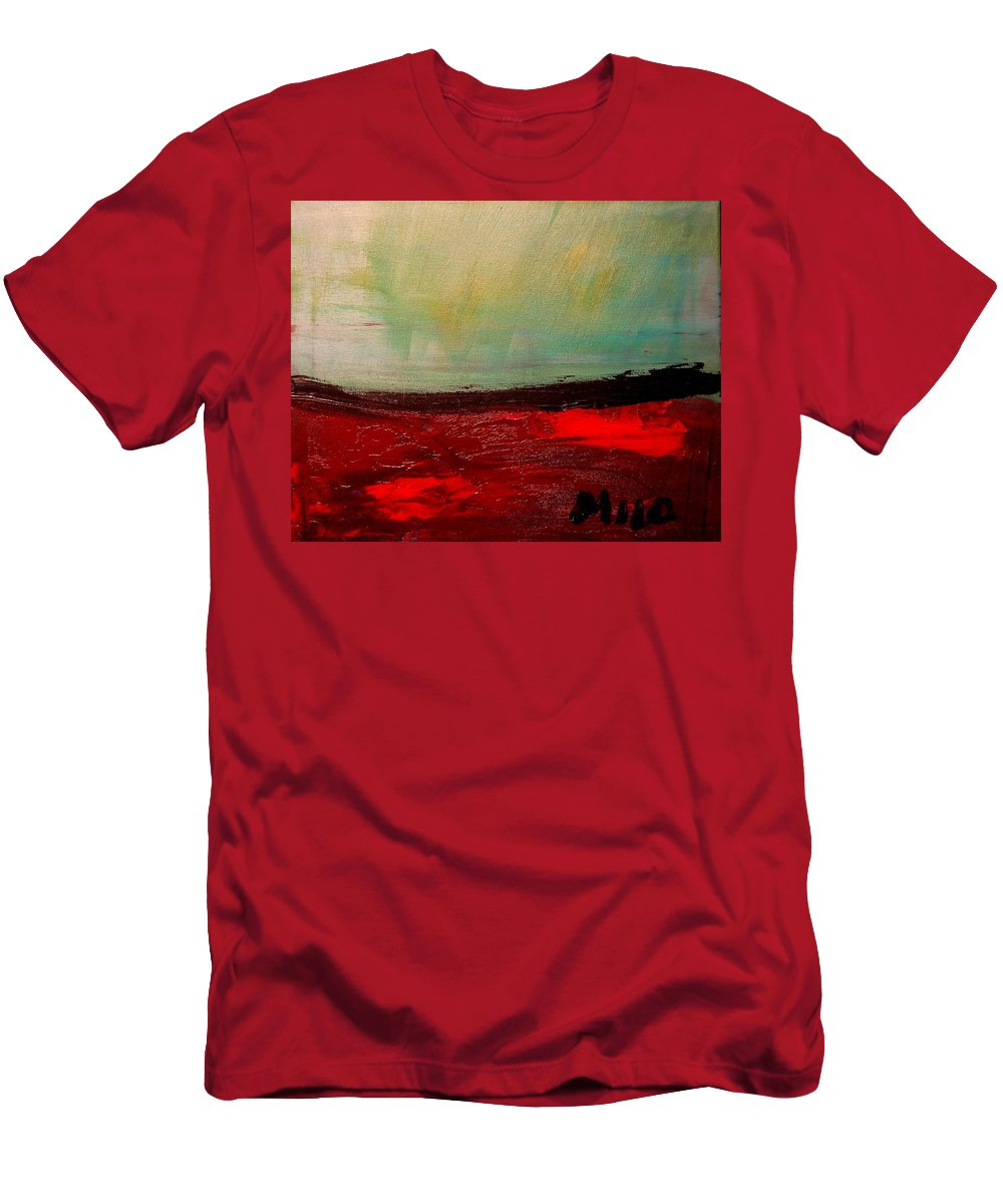 Impressionist Framed Prints Men's T-Shirt (Athletic Fit) featuring the mixed media Seascape by Mark Kazav