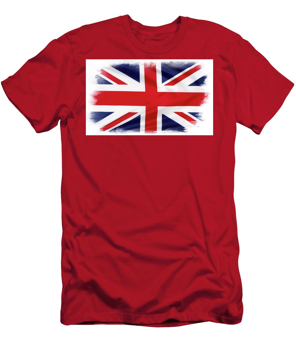 British Flag Men's T-Shirt (Athletic Fit) featuring the photograph Union Jack by Les Cunliffe