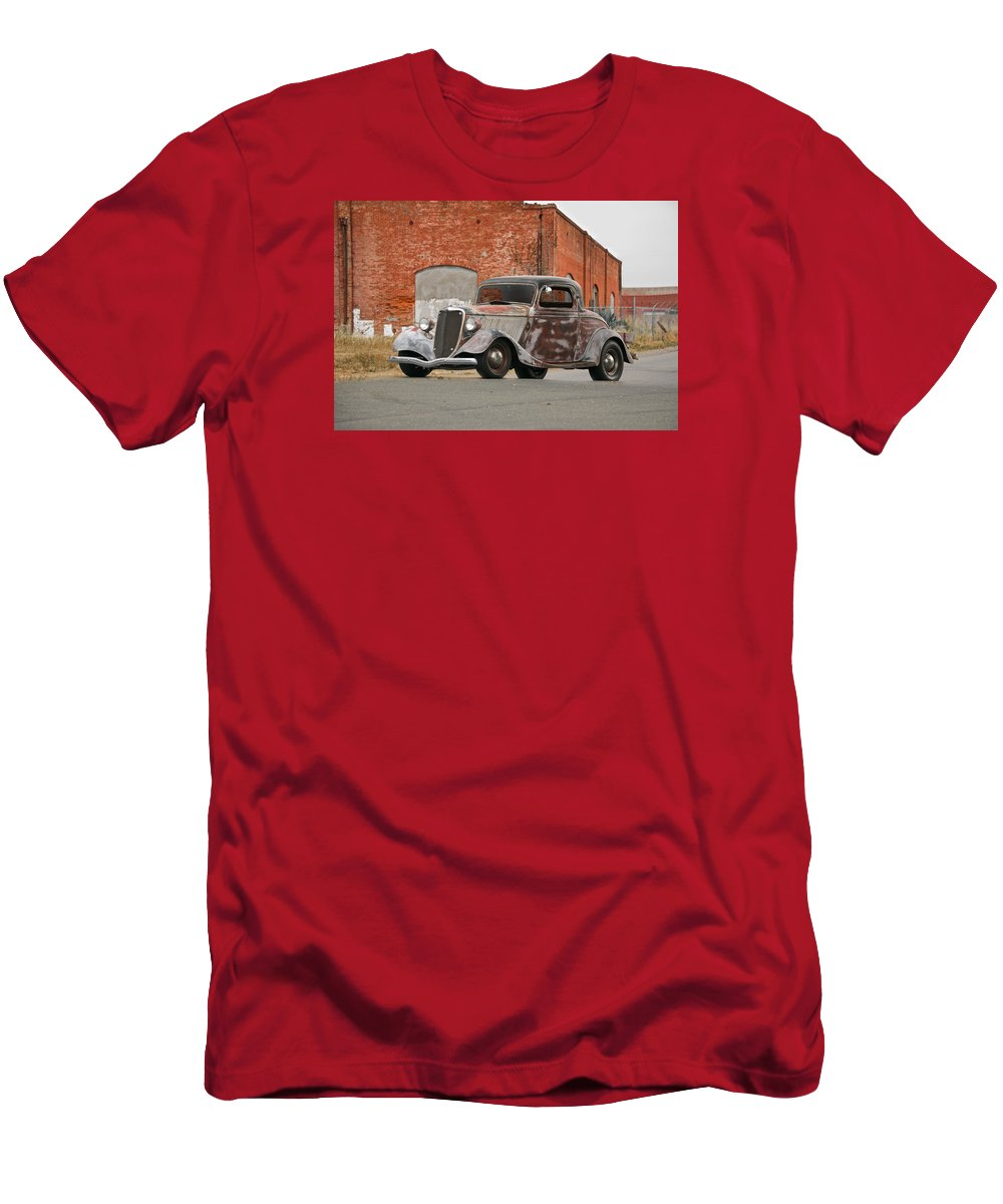 Automobile Men's T-Shirt (Athletic Fit) featuring the photograph 1934 Ford 'survivor' Coupe by Dave Koontz