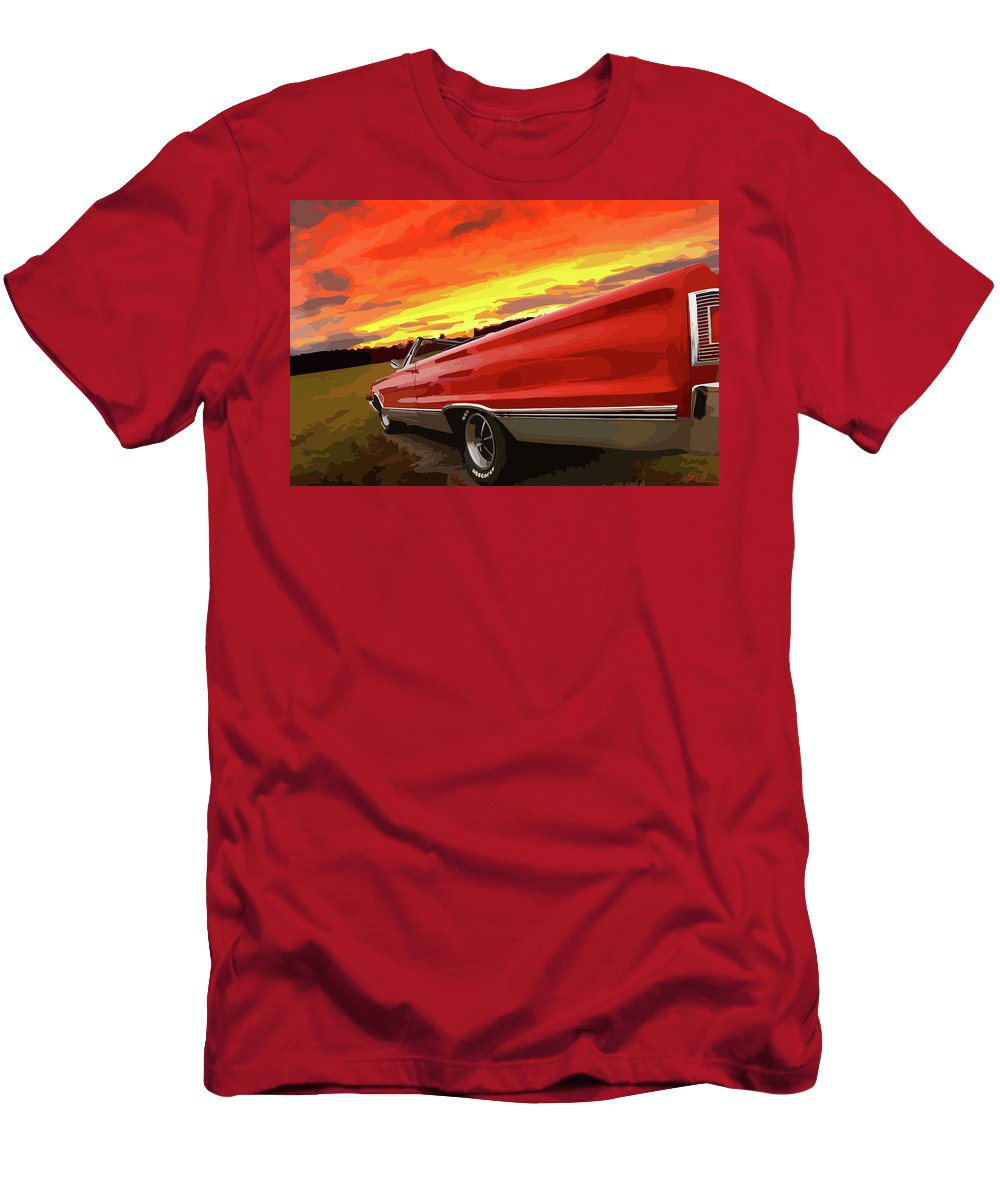 426 Men's T-Shirt (Athletic Fit) featuring the photograph 1967 Plymouth Satellite Convertible by Gordon Dean II