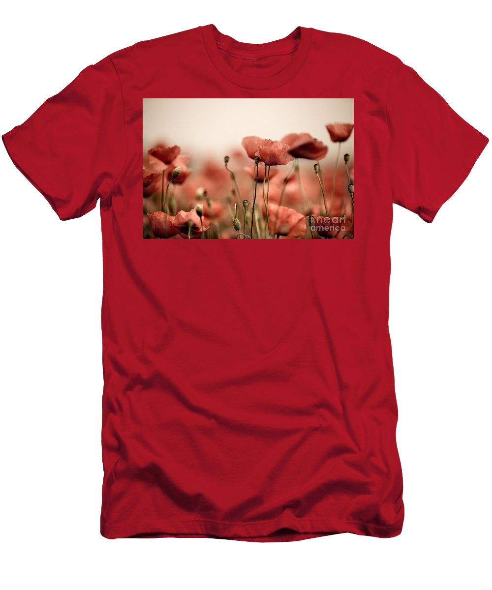 Poppy T-Shirt featuring the photograph Poppy Dream by Nailia Schwarz