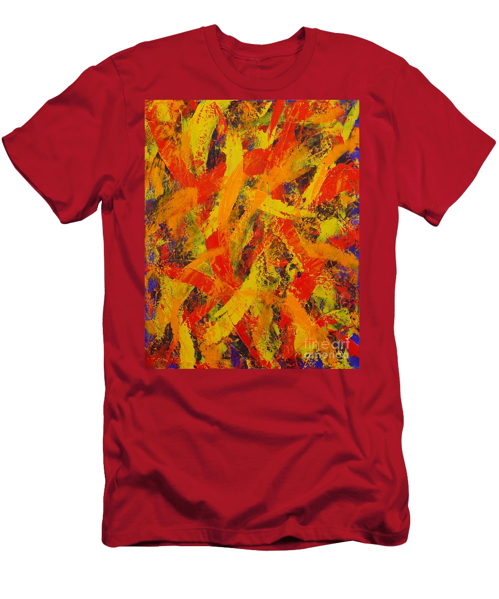 Abstract Men's T-Shirt (Athletic Fit) featuring the painting Untitled by Dean Triolo