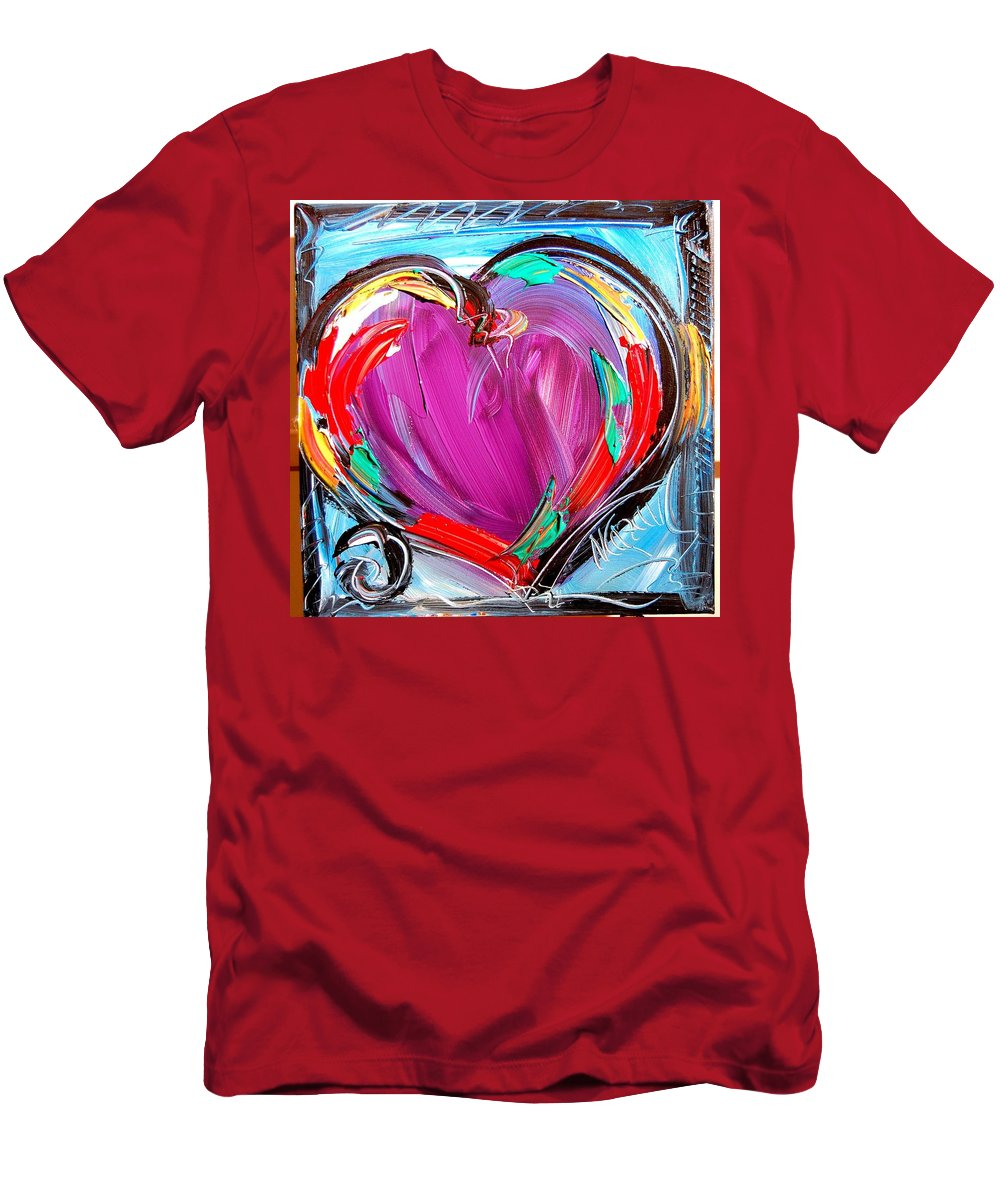 Men's T-Shirt (Athletic Fit) featuring the painting Heart by Mark Kazav