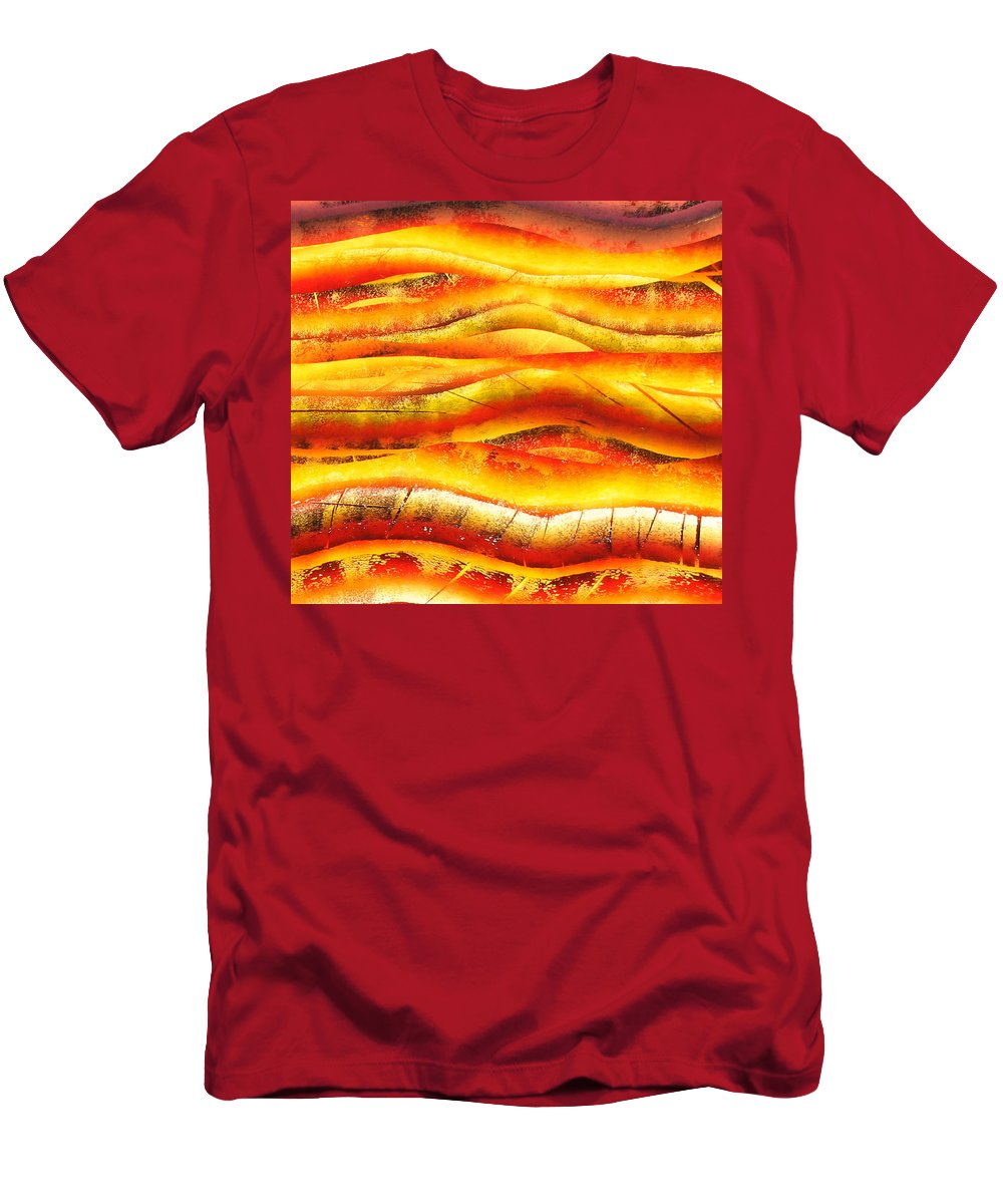 Men's T-Shirt (Athletic Fit) featuring the painting Abstract by Jay Bonifield