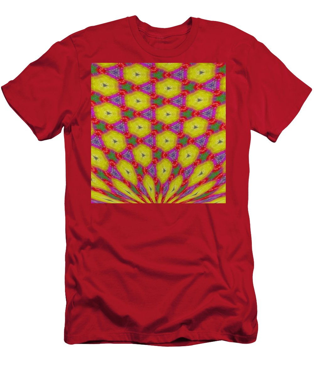 Kaleidoscope Men's T-Shirt (Athletic Fit) featuring the digital art Kaleidoscope 7 by Kimberly Rose Bartlett