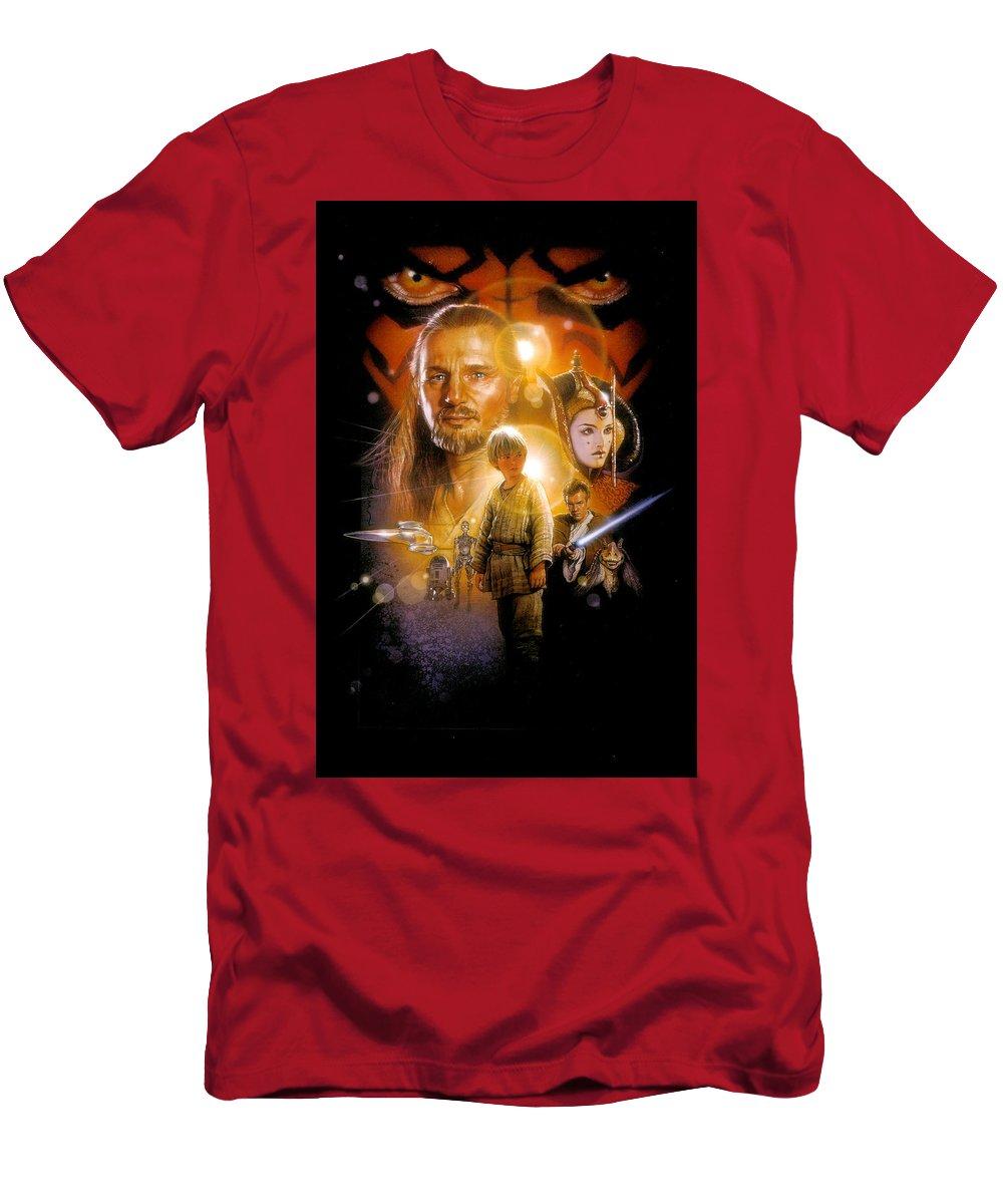 Star Wars T-Shirt featuring the digital art Star Wars Episode I - The Phantom Menace 1999 by Geek N Rock