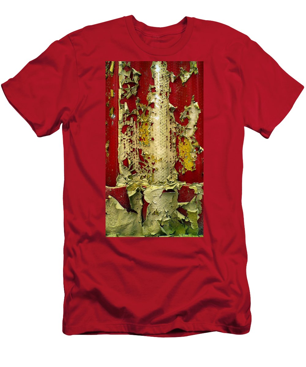 Abstract Men's T-Shirt (Athletic Fit) featuring the photograph 377 At 41 Series 5 by Skip Hunt