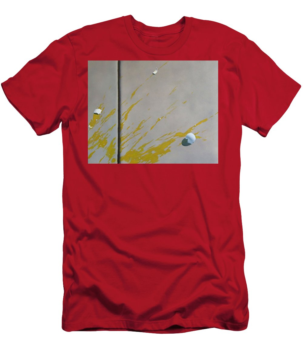 Street Scene T-Shirt featuring the painting Untitled 5 by Philip Fleischer