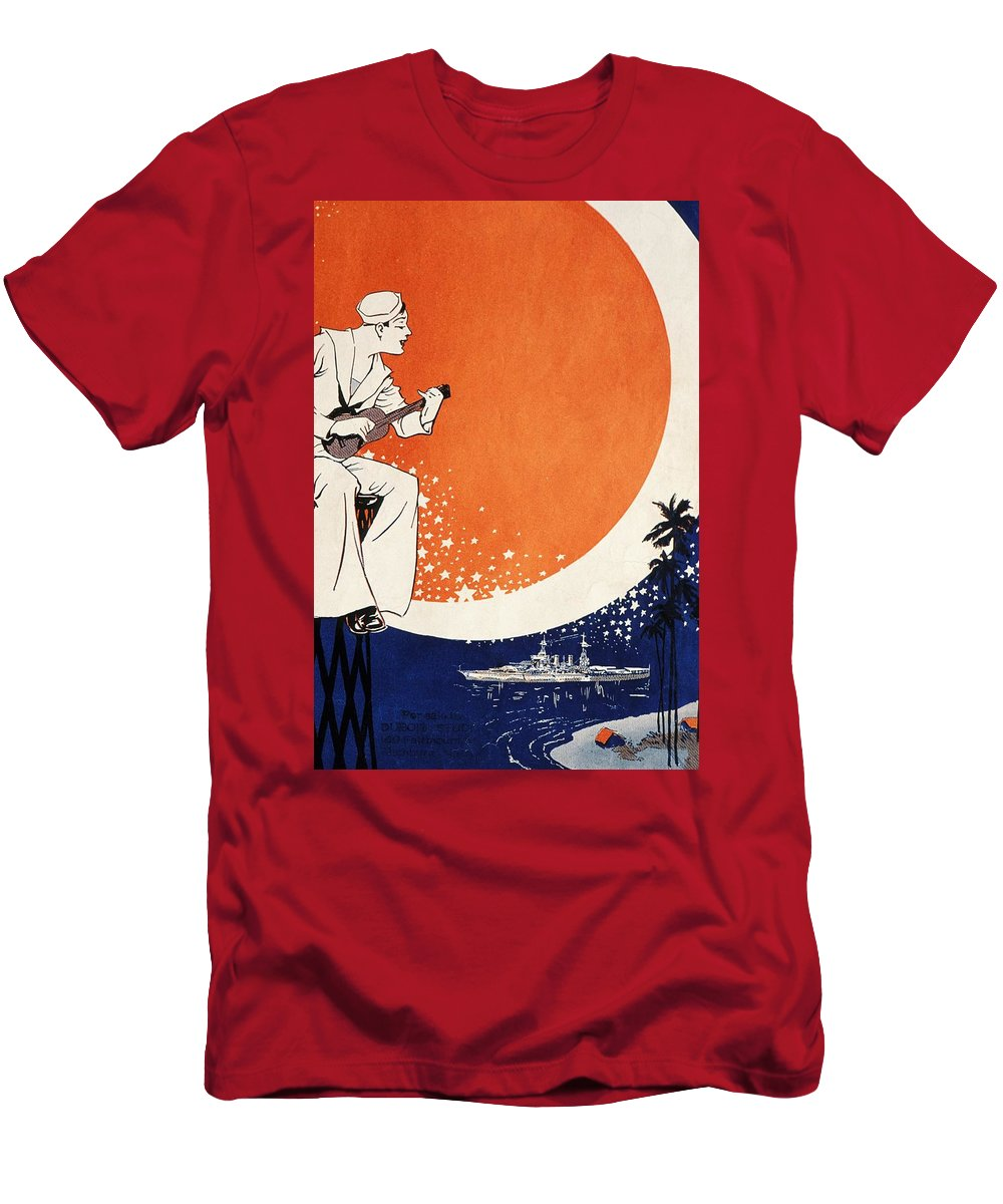 1918 Men's T-Shirt (Athletic Fit) featuring the painting Vintage Hawaiian Art by Hawaiian Legacy Archive - Printscapes