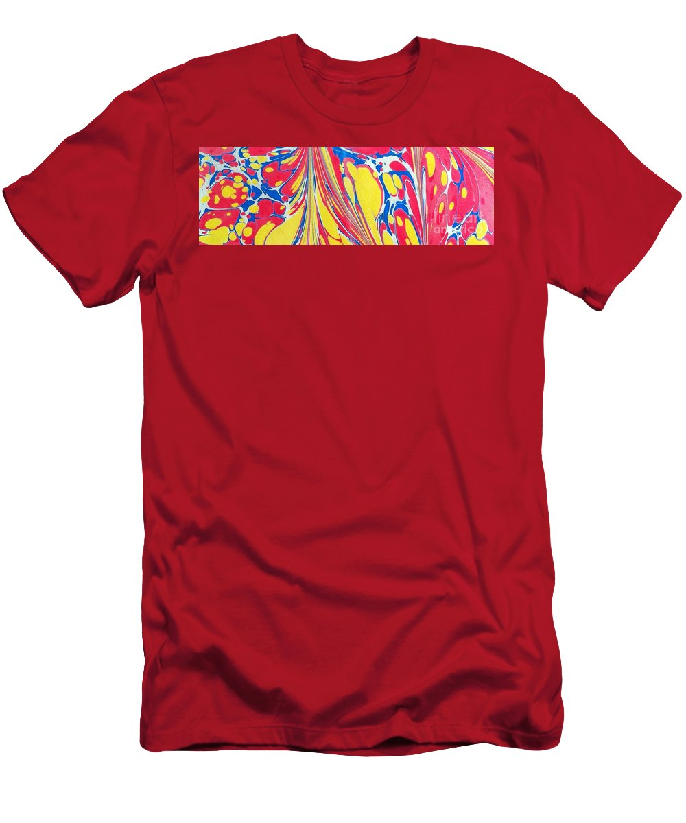 Abstract T-Shirt featuring the painting Water Marbling Art, Ebru by Dilan C