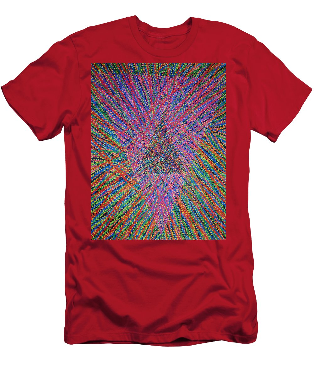 Inspirational Men's T-Shirt (Athletic Fit) featuring the painting Mobius Band by Kyung Hee Hogg