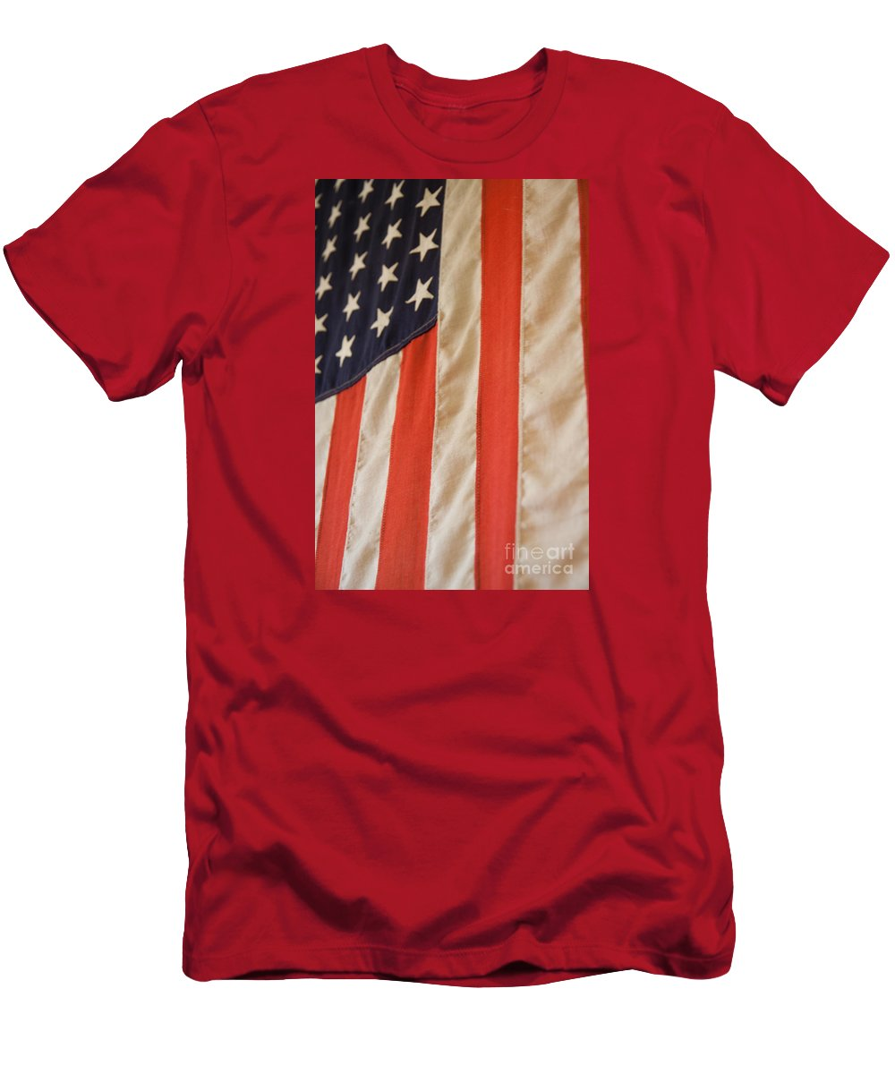 American Men's T-Shirt (Athletic Fit) featuring the photograph American Flag by Robert Gaines