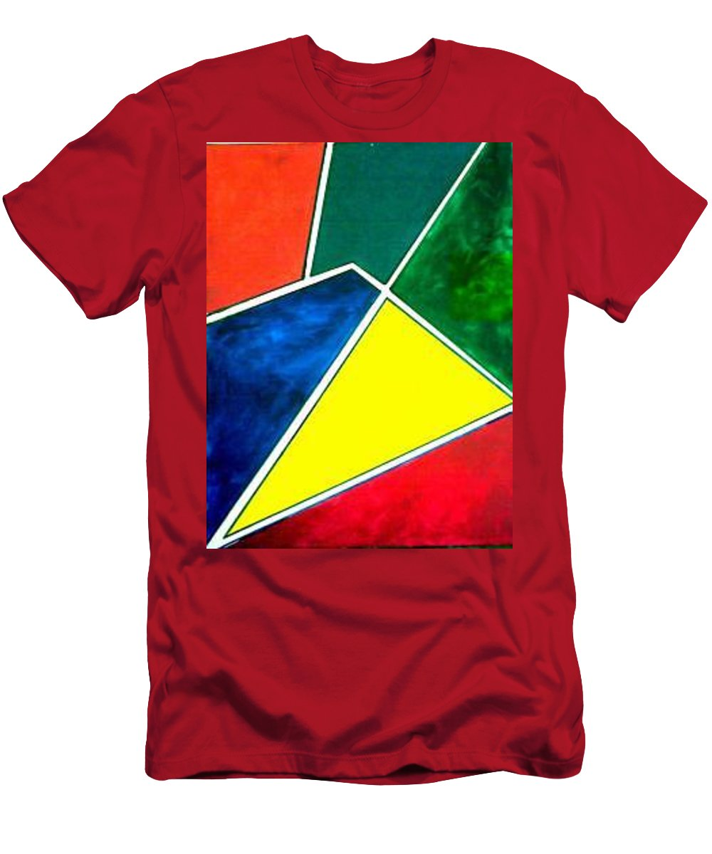 Primary And Sondary Colors Men's T-Shirt (Athletic Fit) featuring the painting 99870 Colors by Andrew Johnson