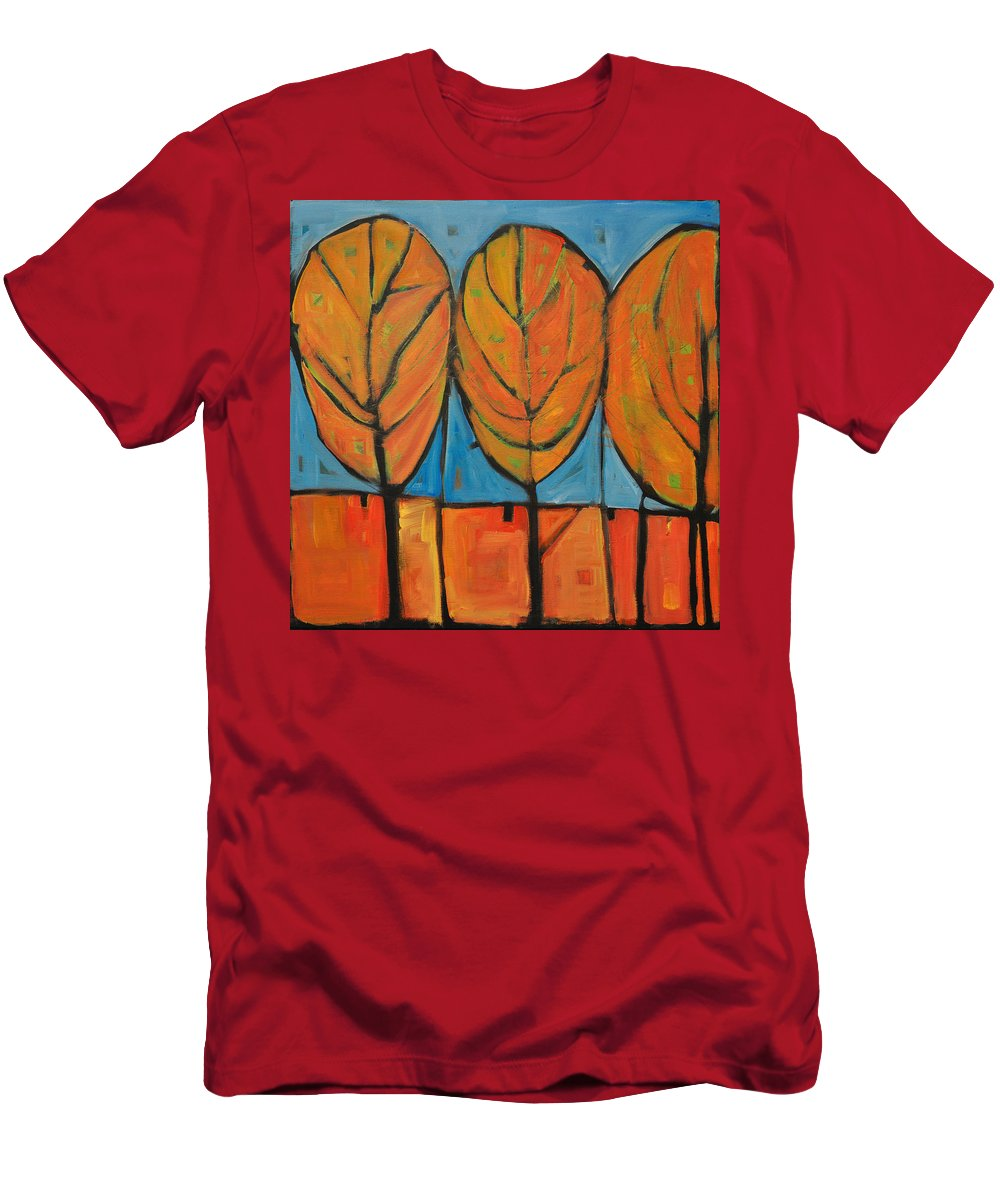 Fall Men's T-Shirt (Athletic Fit) featuring the painting A Change Of Seasons by Tim Nyberg