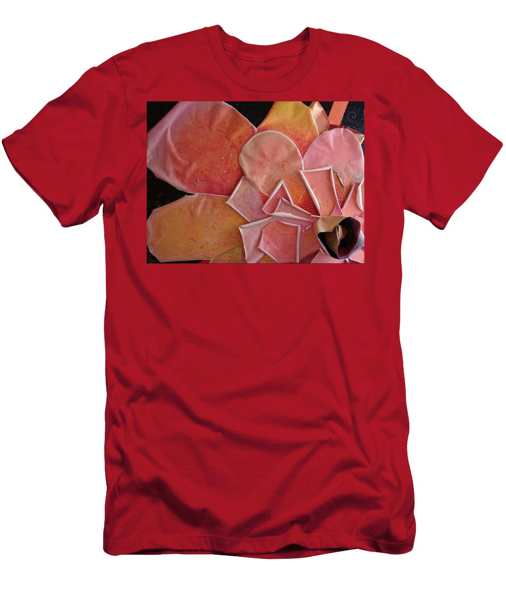 Sculptural Men's T-Shirt (Athletic Fit) featuring the painting A Pink Experience by Helena Tiainen
