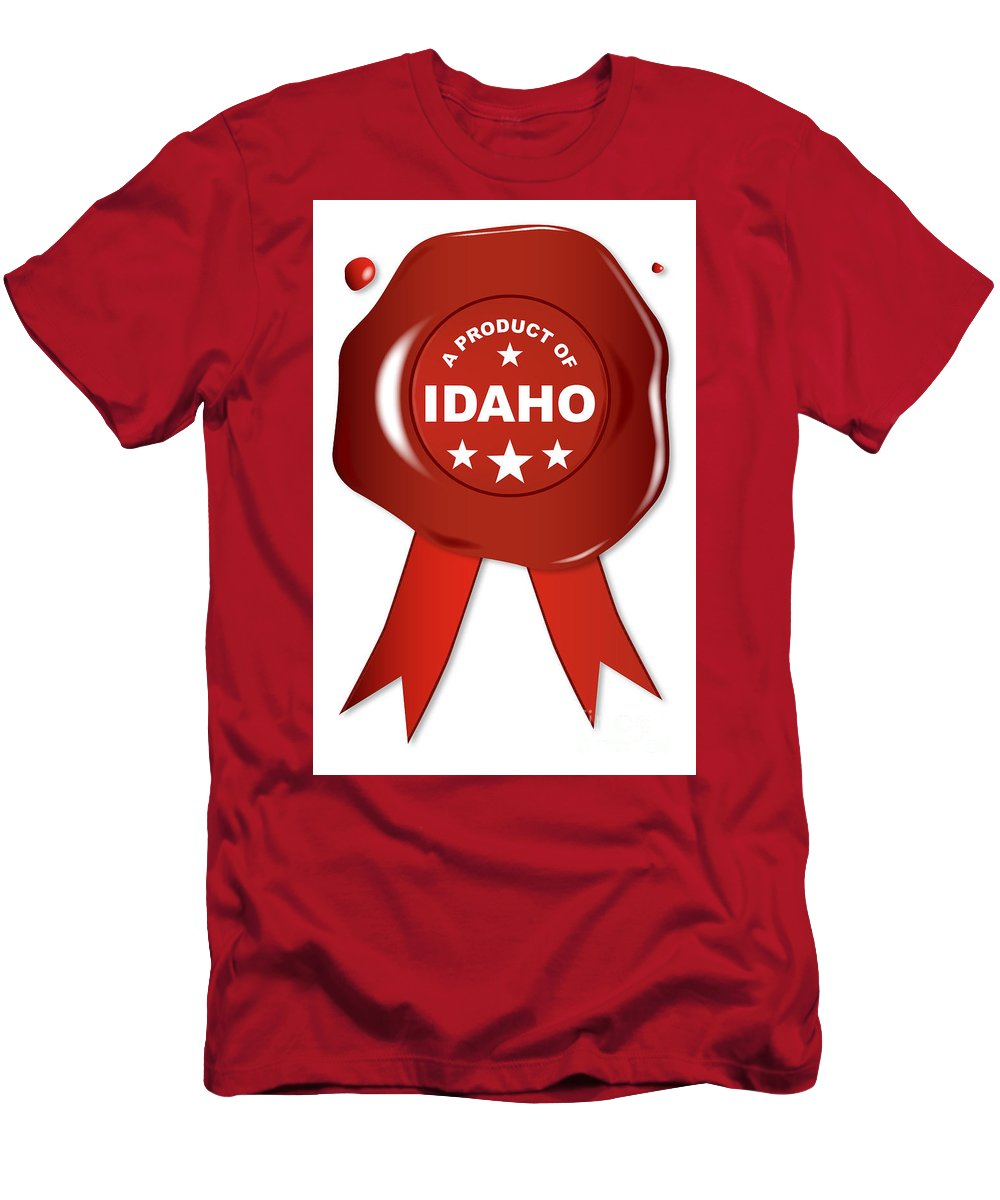 Idaho Men's T-Shirt (Athletic Fit) featuring the digital art A Product Of Idaho by Bigalbaloo Stock