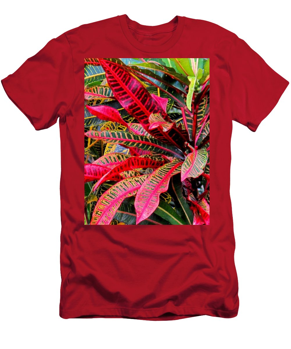 Red Men's T-Shirt (Athletic Fit) featuring the photograph A Rich Composition by Ian MacDonald