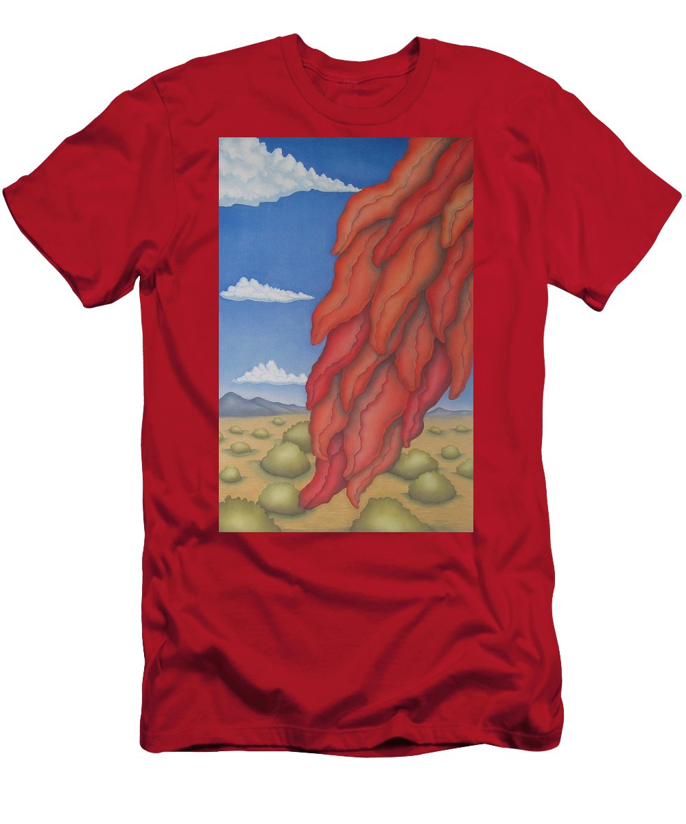 Southwest Men's T-Shirt (Athletic Fit) featuring the painting A Ristra On A Breeze by Jeniffer Stapher-Thomas