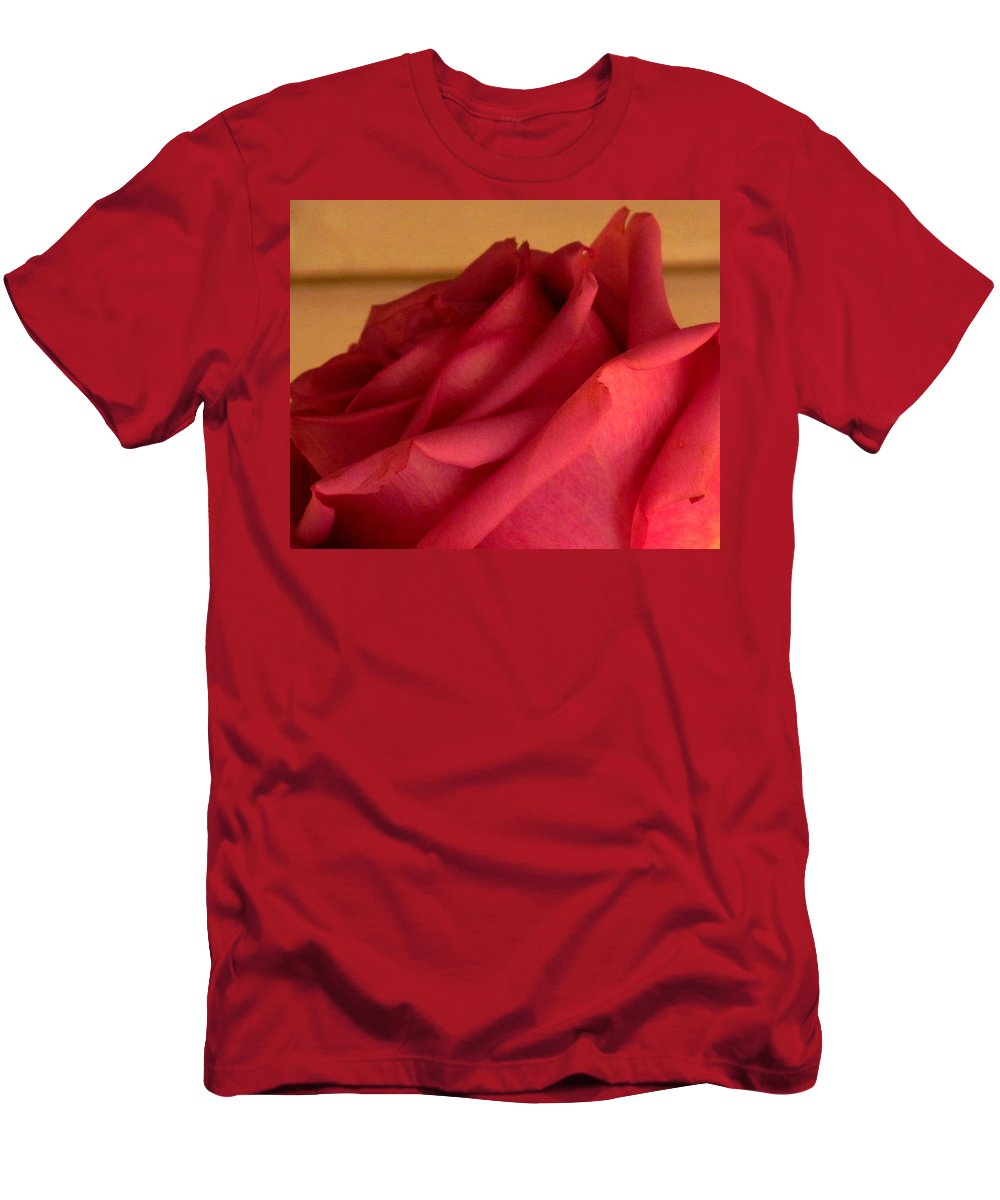 Rose Men's T-Shirt (Athletic Fit) featuring the photograph A Rose In Horizonal by Ian MacDonald