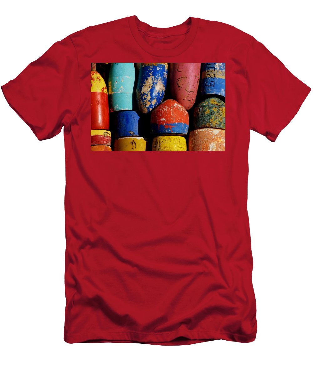 Float Men's T-Shirt (Athletic Fit) featuring the photograph A Spectrum Of Floats by Gregory Strong
