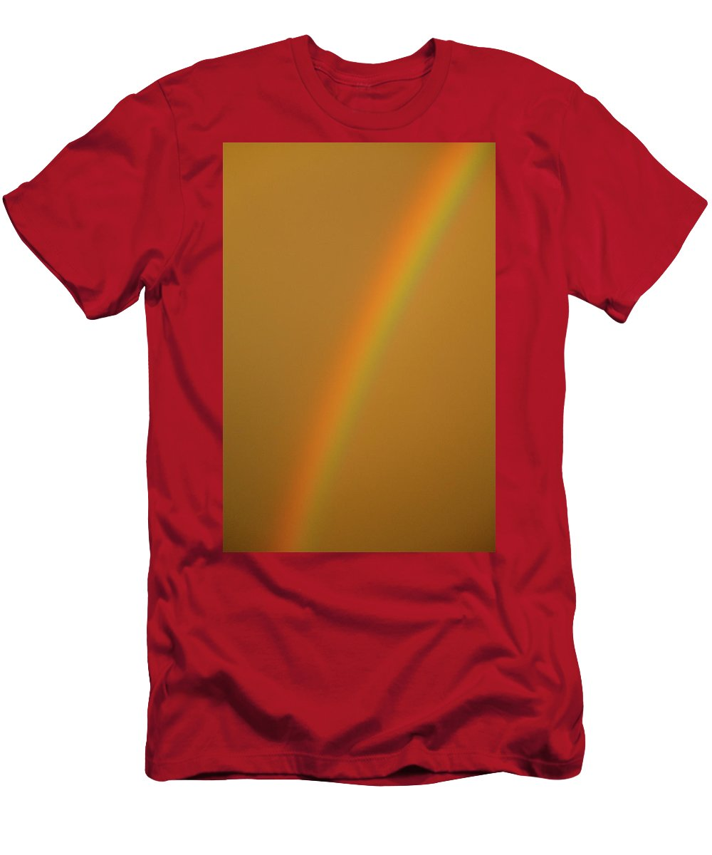 Rainbow Men's T-Shirt (Athletic Fit) featuring the photograph A Sunset Rainbow by Diana Hatcher