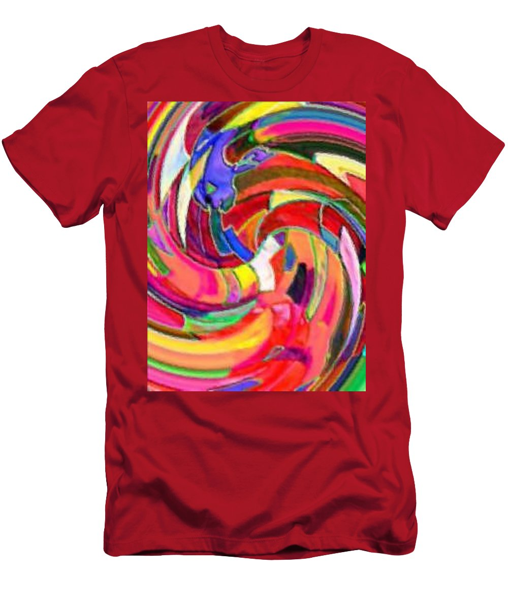 Digital Image Men's T-Shirt (Athletic Fit) featuring the digital art AB by Andrew Johnson