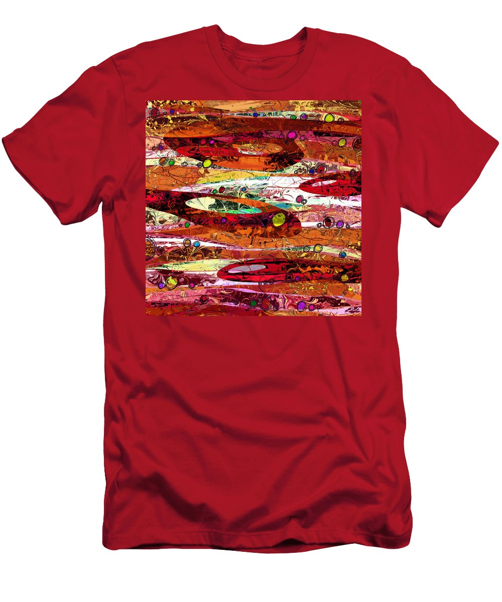 Abstract Men's T-Shirt (Athletic Fit) featuring the digital art Abiding by Rachel Christine Nowicki