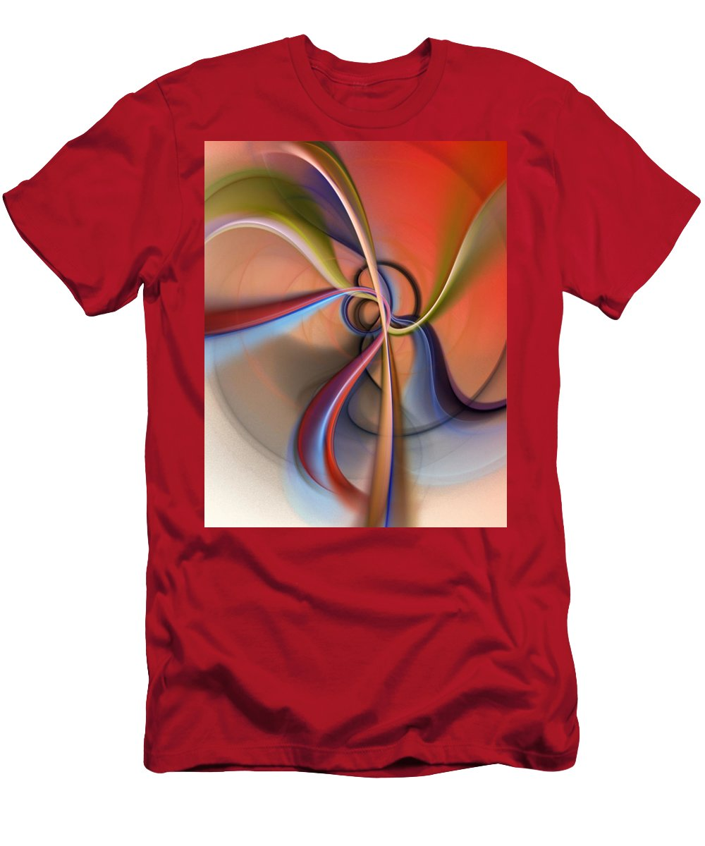 Fractal Men's T-Shirt (Athletic Fit) featuring the digital art Abstract 0414111 by David Lane