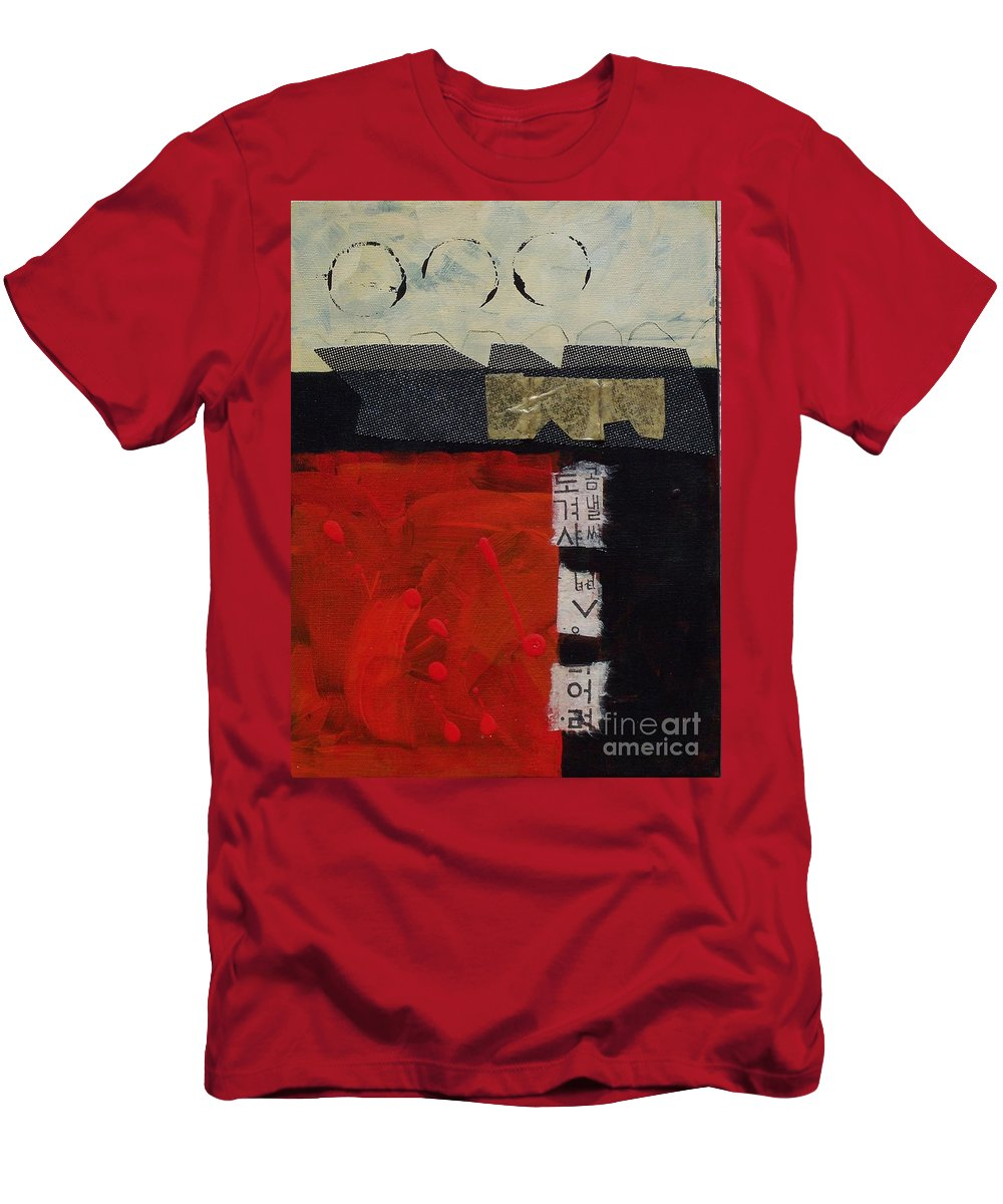 Abstract Men's T-Shirt (Athletic Fit) featuring the painting Abstract 071 by Donna Frost