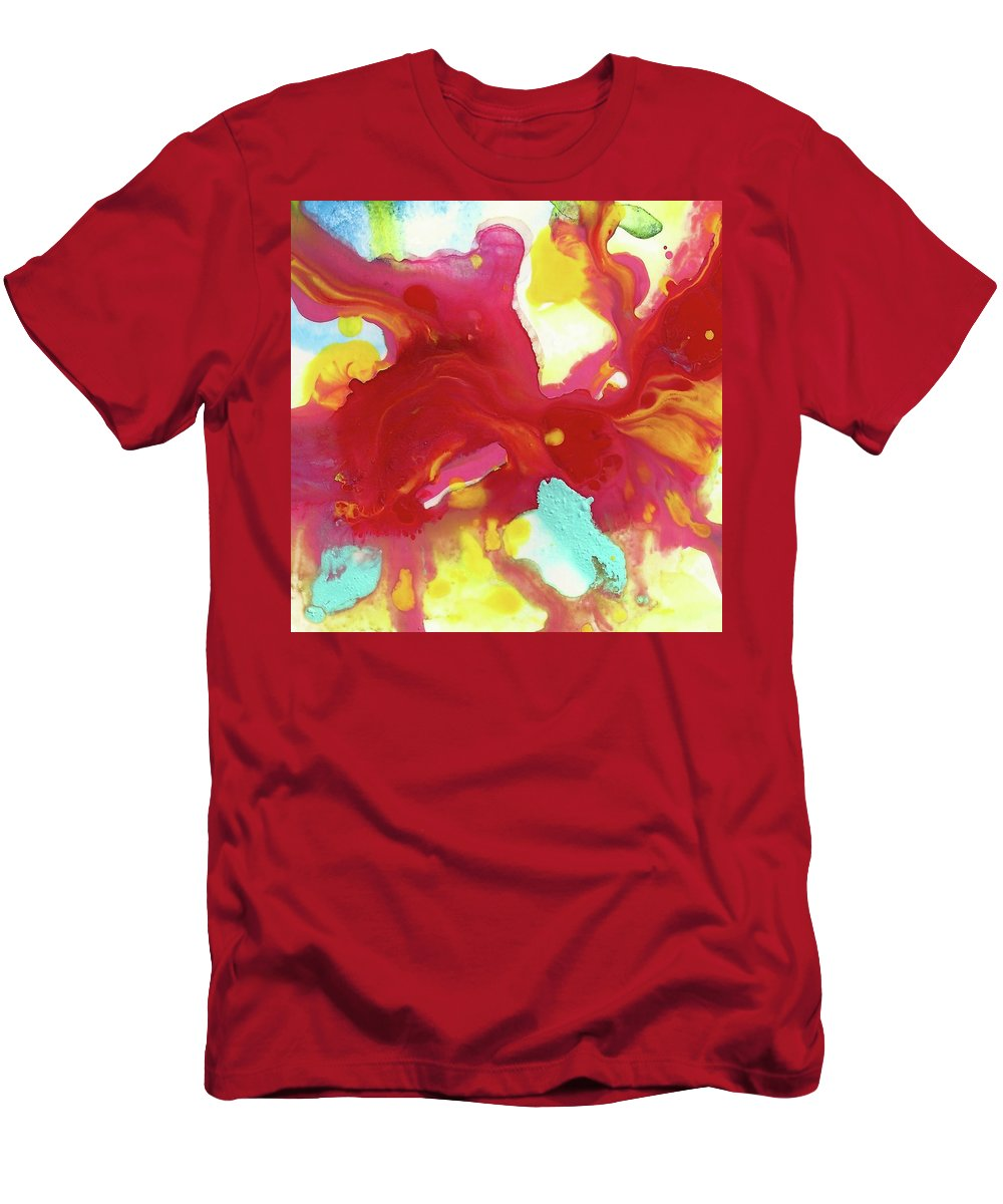 Animal Men's T-Shirt (Athletic Fit) featuring the mixed media Abstract Butterfly Floral by Amy Vangsgard