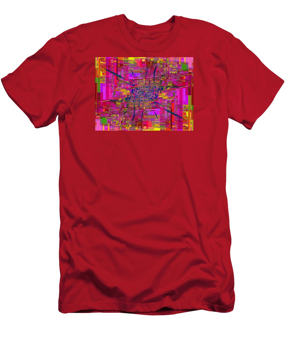 Abstract Men's T-Shirt (Athletic Fit) featuring the digital art Abstract Cubed 330 by Tim Allen