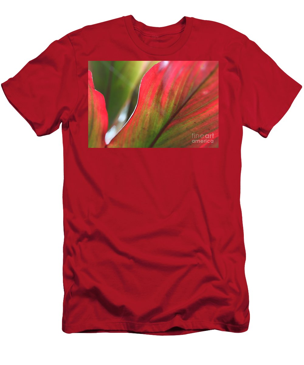 Pink Men's T-Shirt (Athletic Fit) featuring the photograph Abstract Leaves by Nadine Rippelmeyer