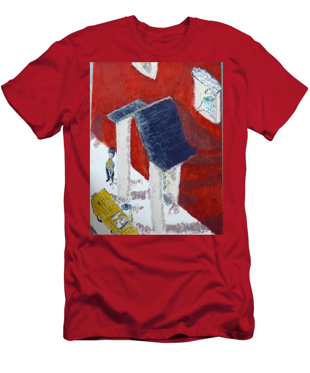 Social Realiism Men's T-Shirt (Athletic Fit) featuring the painting Accessories by R B
