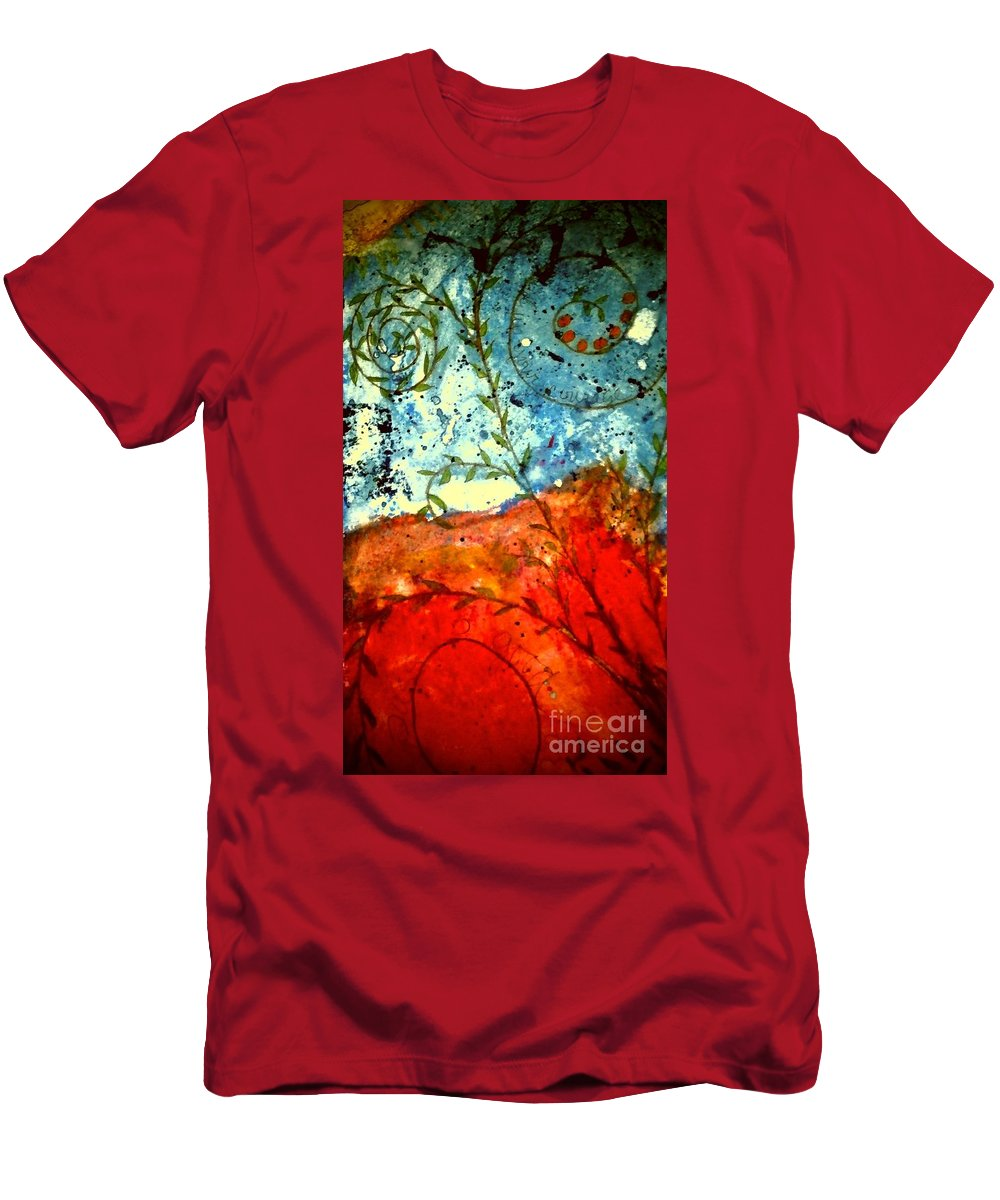 Greeting Cards Men's T-Shirt (Athletic Fit) featuring the photograph After The Storm The Dust Settles by Angela L Walker