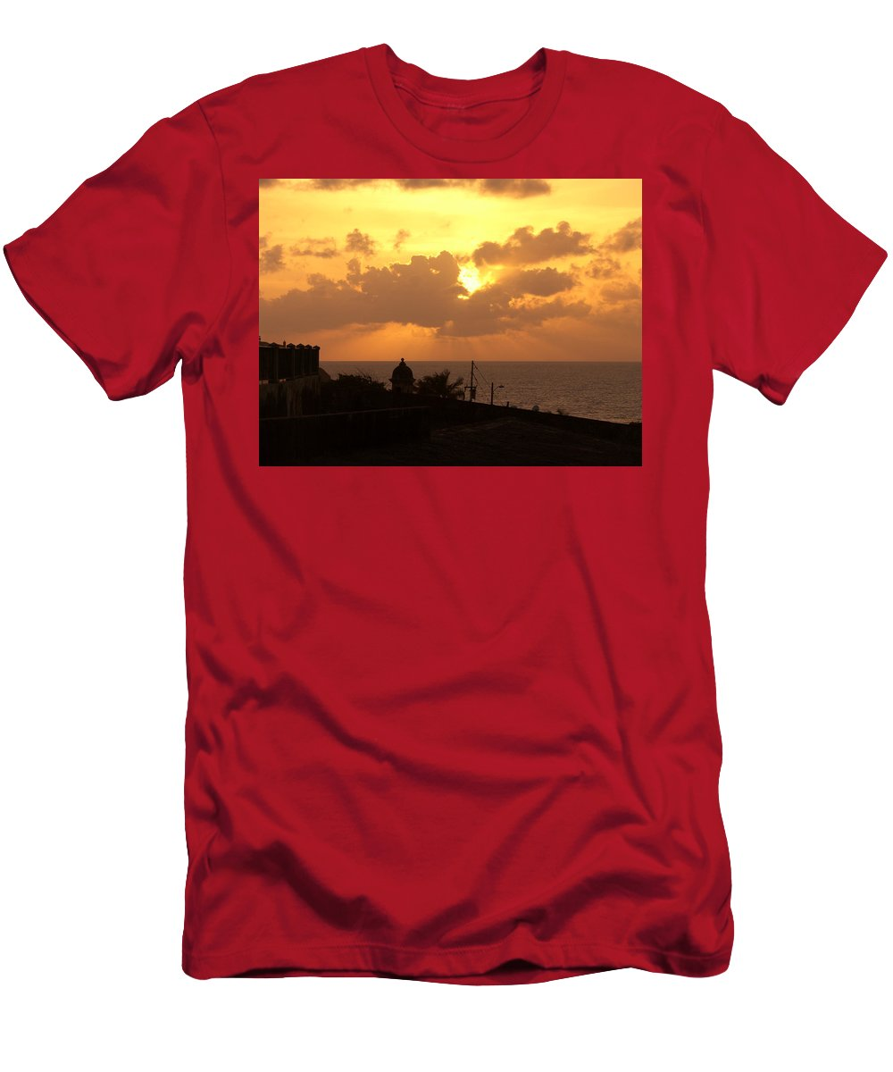 Sky Men's T-Shirt (Athletic Fit) featuring the photograph Afternoon by Are Lund