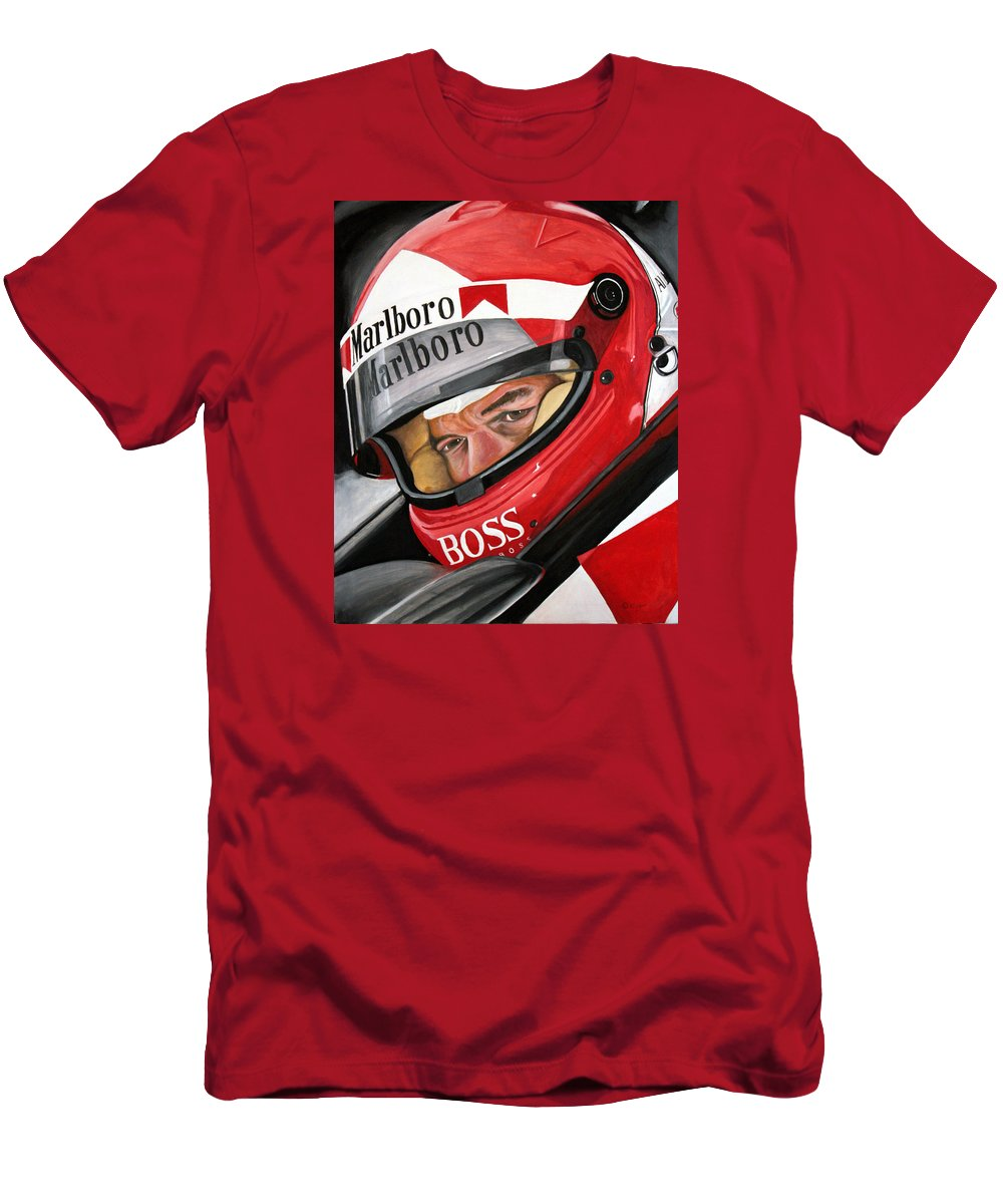 Al Unser Jr. Men's T-Shirt (Athletic Fit) featuring the painting Al Unser by Chad Krieger