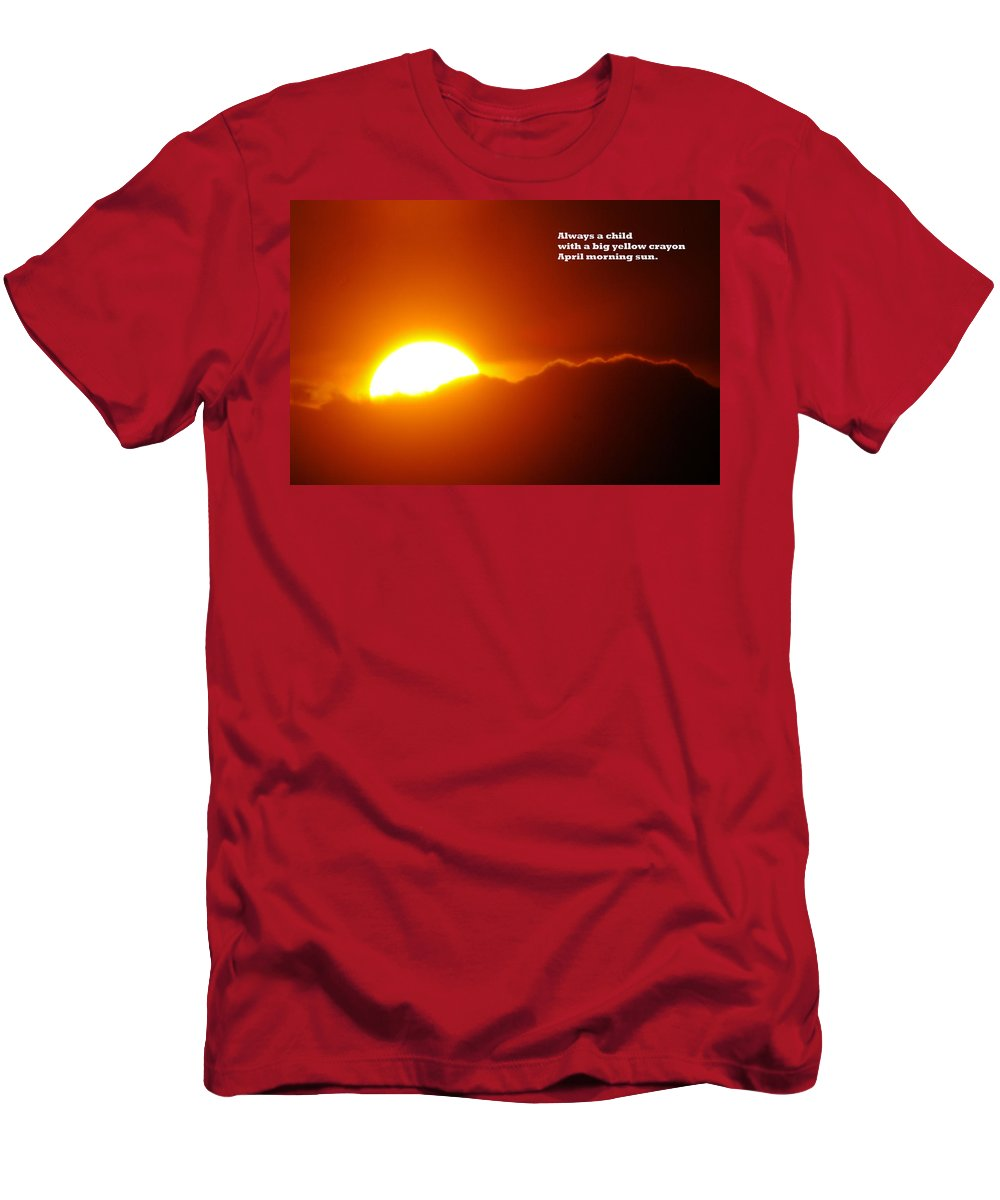 Sunset Men's T-Shirt (Athletic Fit) featuring the photograph Always A Child by Jeff Swan
