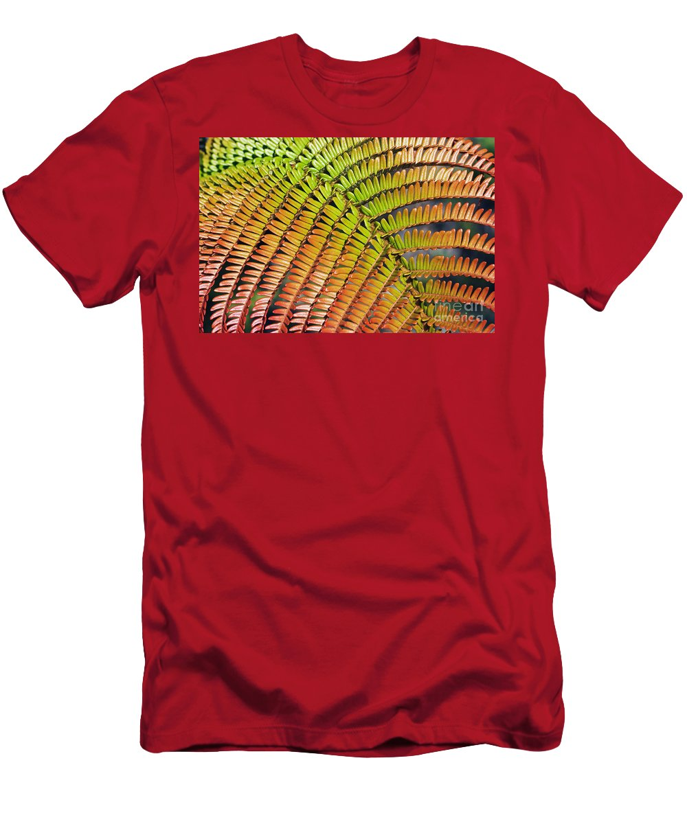 Abstract Men's T-Shirt (Athletic Fit) featuring the photograph Amaumau Fern Frond by Greg Vaughn - Printscapes