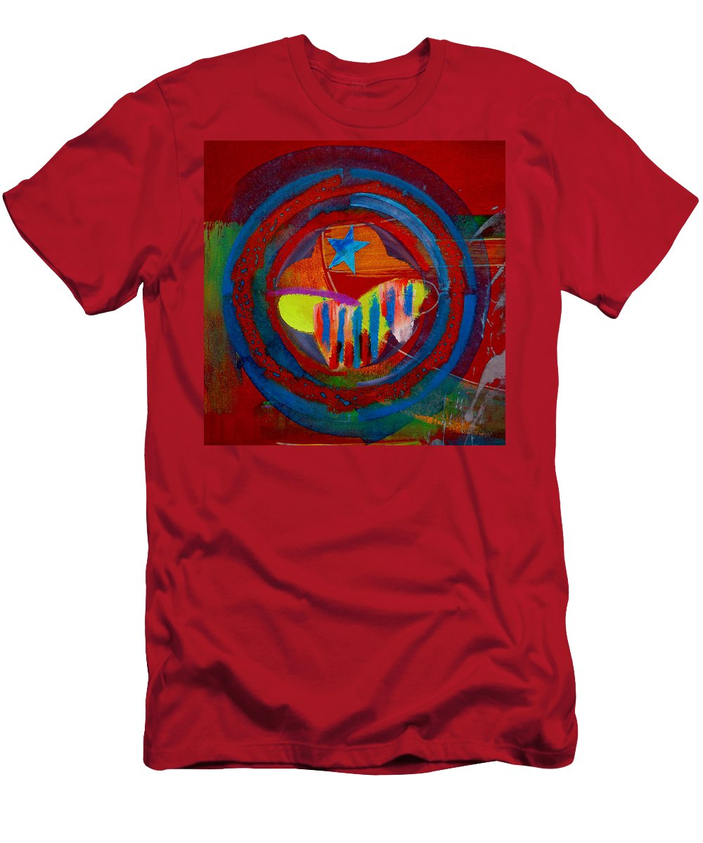 Button Men's T-Shirt (Athletic Fit) featuring the painting American Pastoral by Charles Stuart