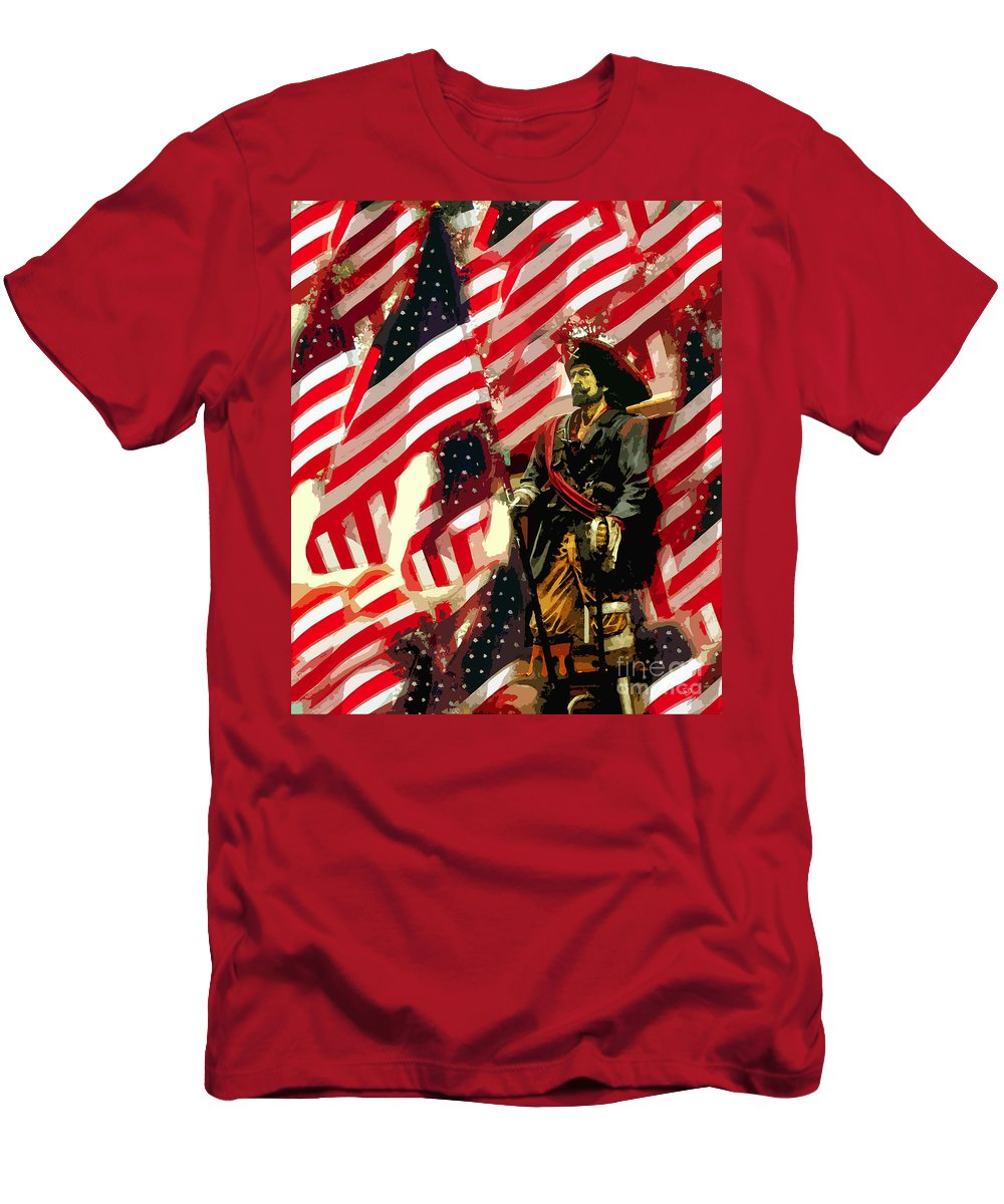 Pirate T-Shirt featuring the painting American pirate by David Lee Thompson