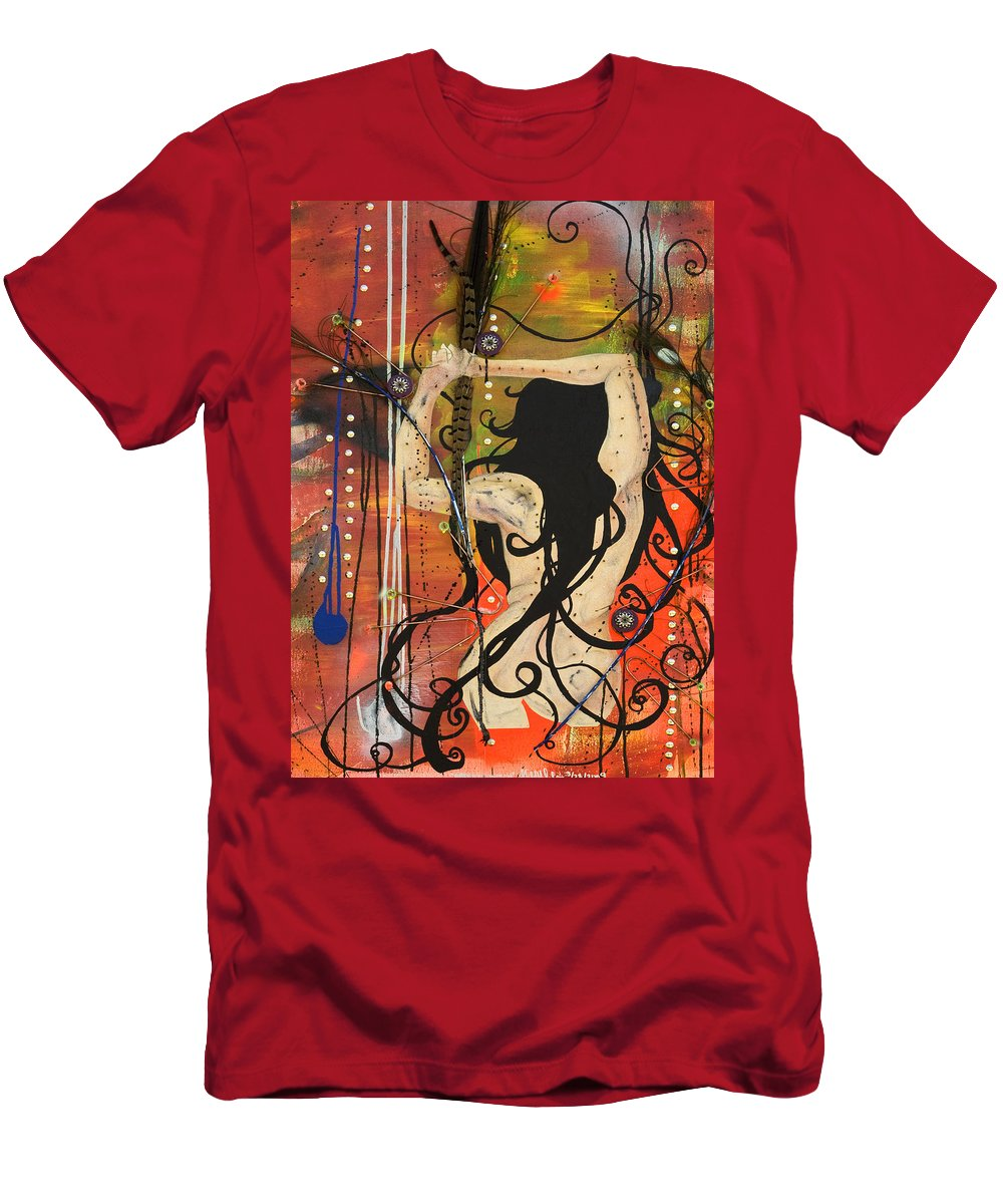 Woman Men's T-Shirt (Athletic Fit) featuring the painting American Witch by Sheridan Furrer