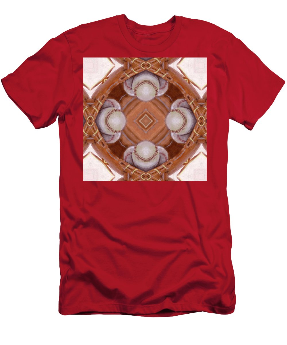Acrylic Men's T-Shirt (Athletic Fit) featuring the mixed media Angels In The Outfield by Maria Watt