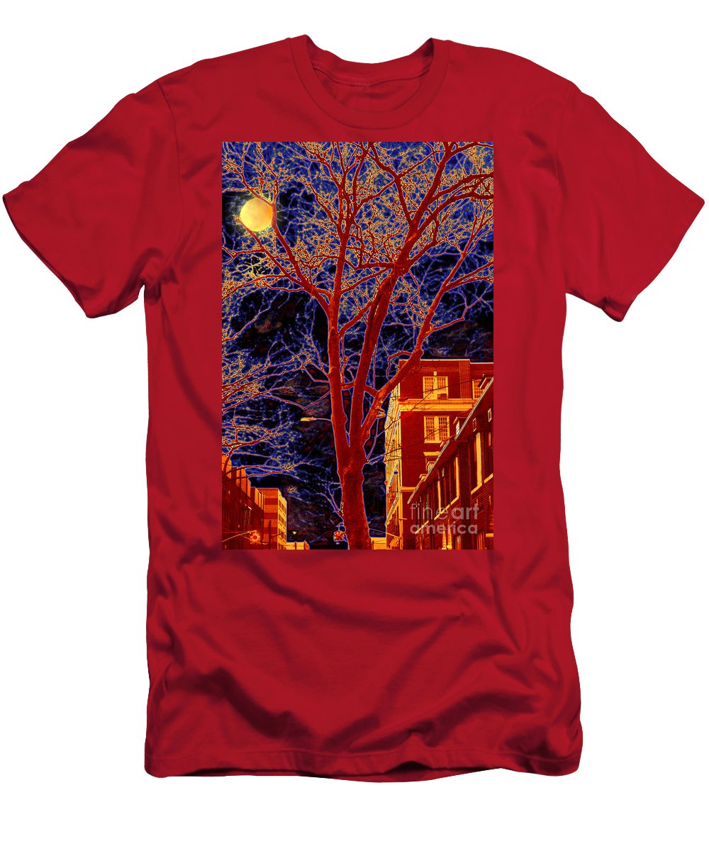 Brooklyn Men's T-Shirt (Athletic Fit) featuring the photograph Another Brooklyn Night by Madeline Ellis