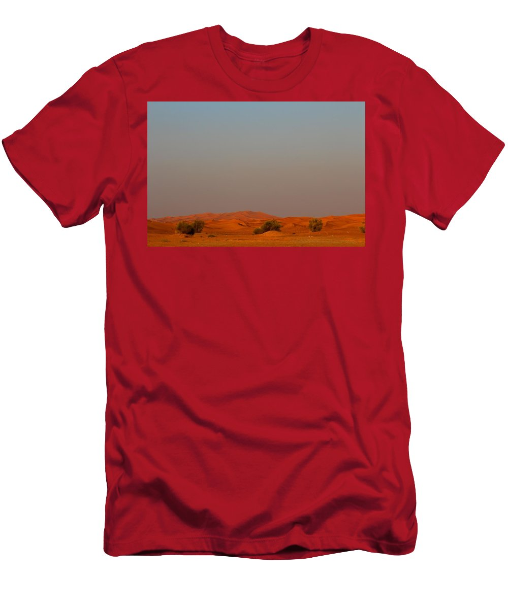 Nature Men's T-Shirt (Athletic Fit) featuring the photograph Arabic Desert by Matteo Urbani